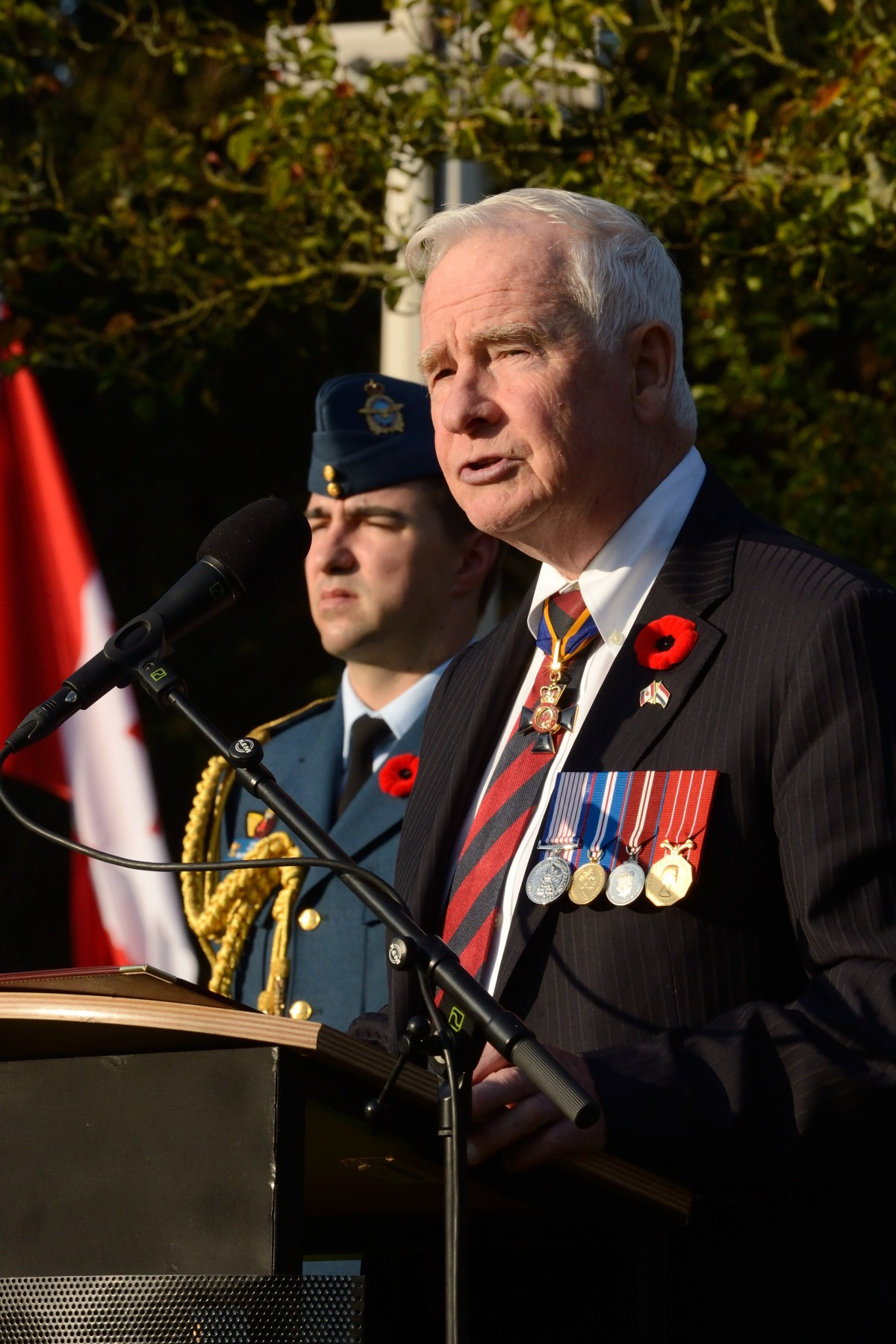 "The Governor General delivered a speech : ""I am humbled and deeply honoured to visit the final resting place of so many Canadian and Commonwealth soldiers who died in the liberation of the Netherlands, 70 years ago. The city of Bergen-op-Zoom and the surrounding waterways, landscapes and communities will always hold a prominent place in the memories of Canadians."""