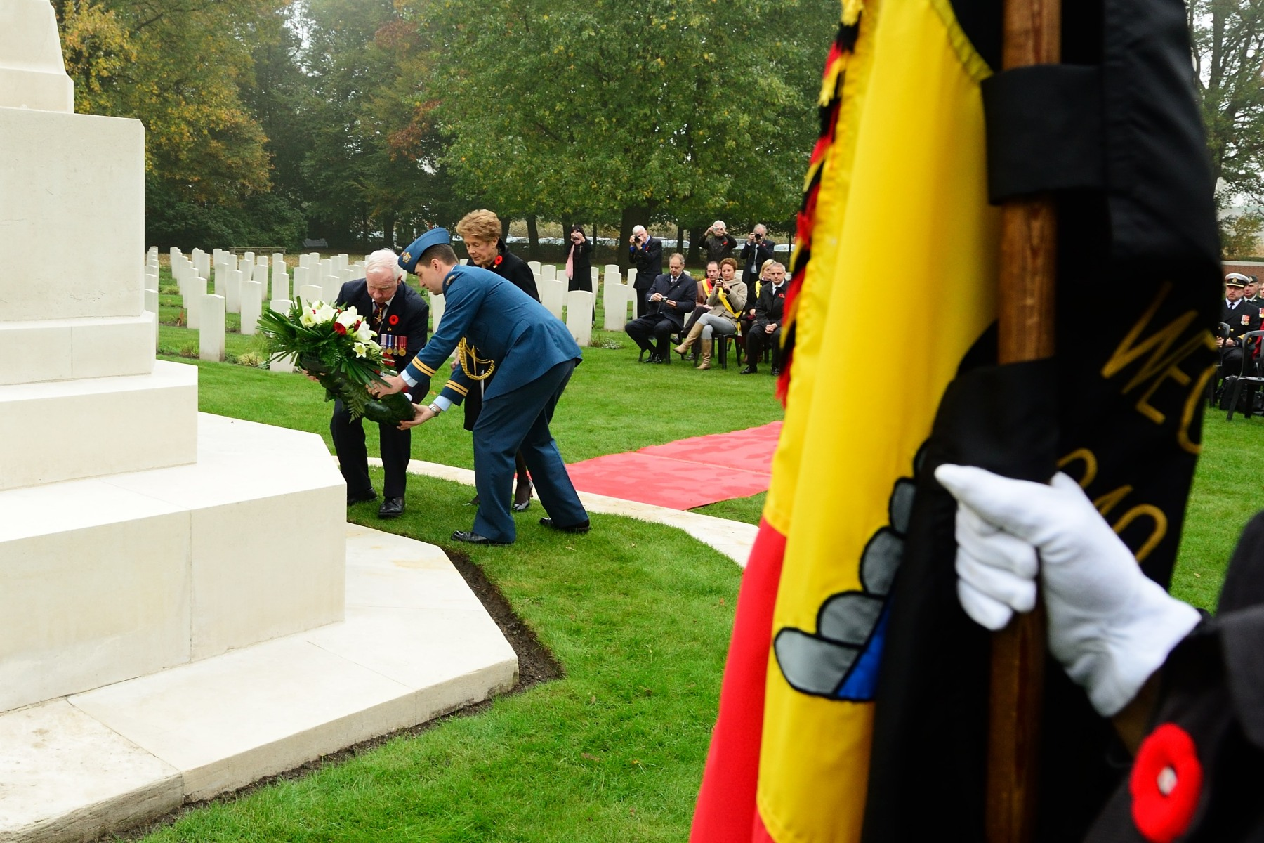 Their Excellencies laid a wreath.