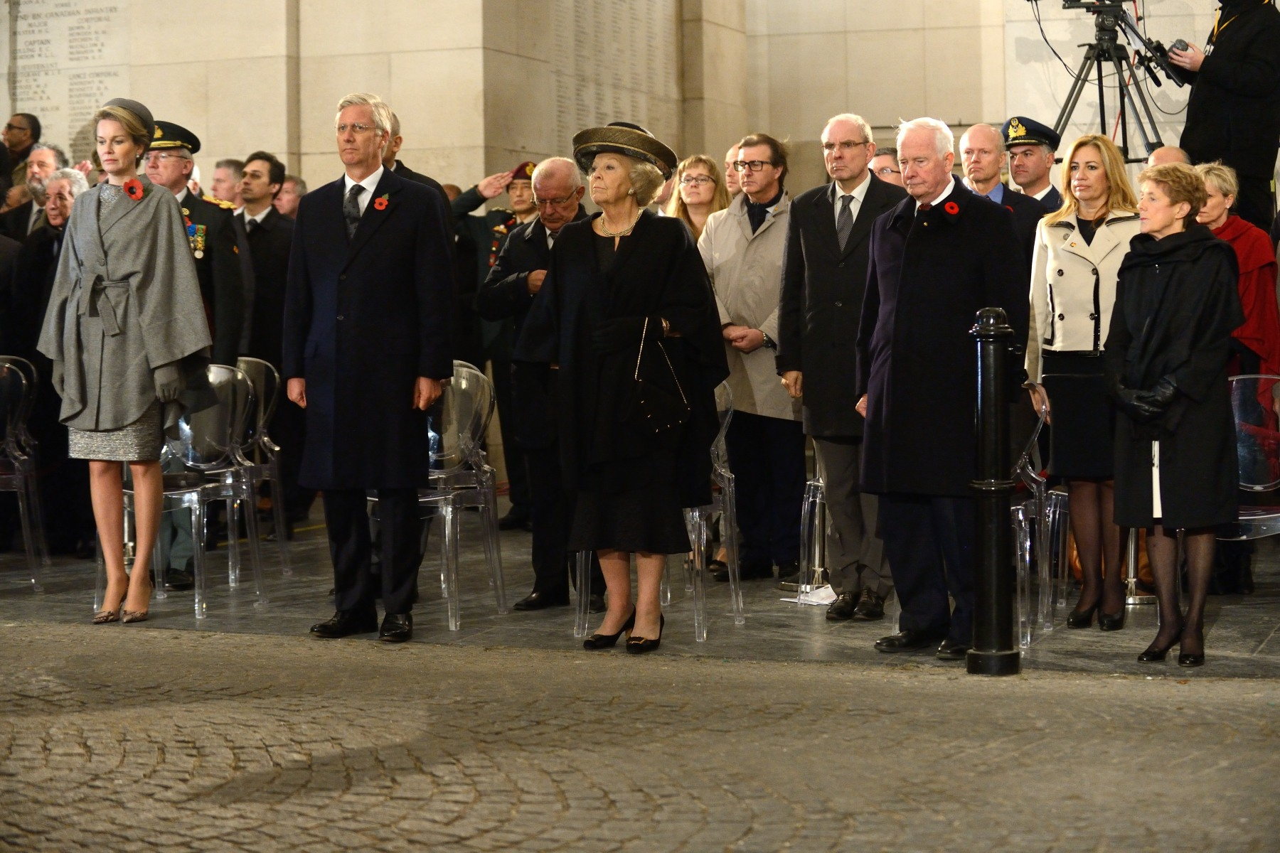 "The King and Queen of Belgium, along with national and international guests, attended this modified version of the ""Last Post."""