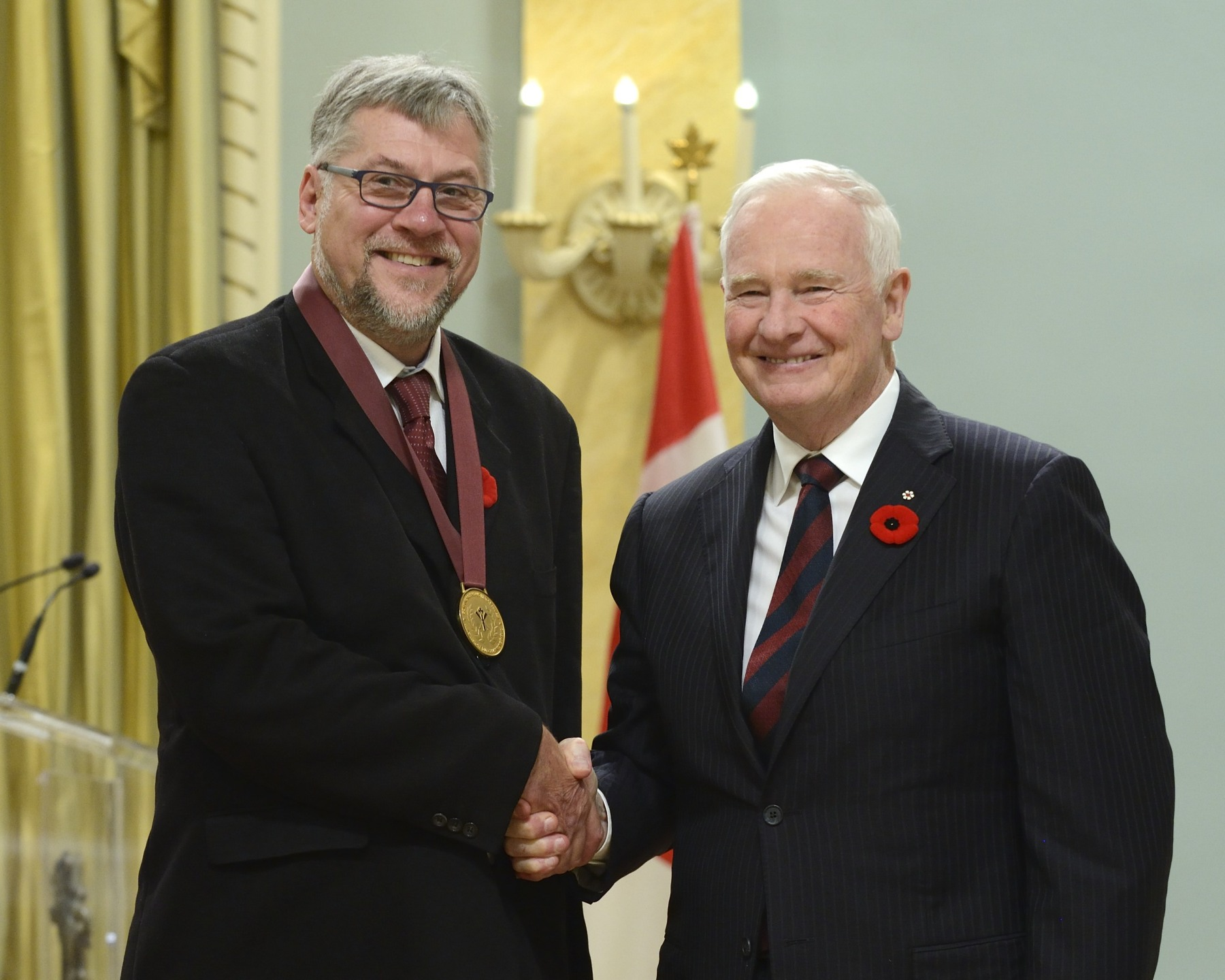 Mr. Mark Zuehlke, a prolific historical writer and pre-eminent military historian from Victoria, British Columbia, received the Governor General's History Award for Popular Media (Pierre Berton Award).
