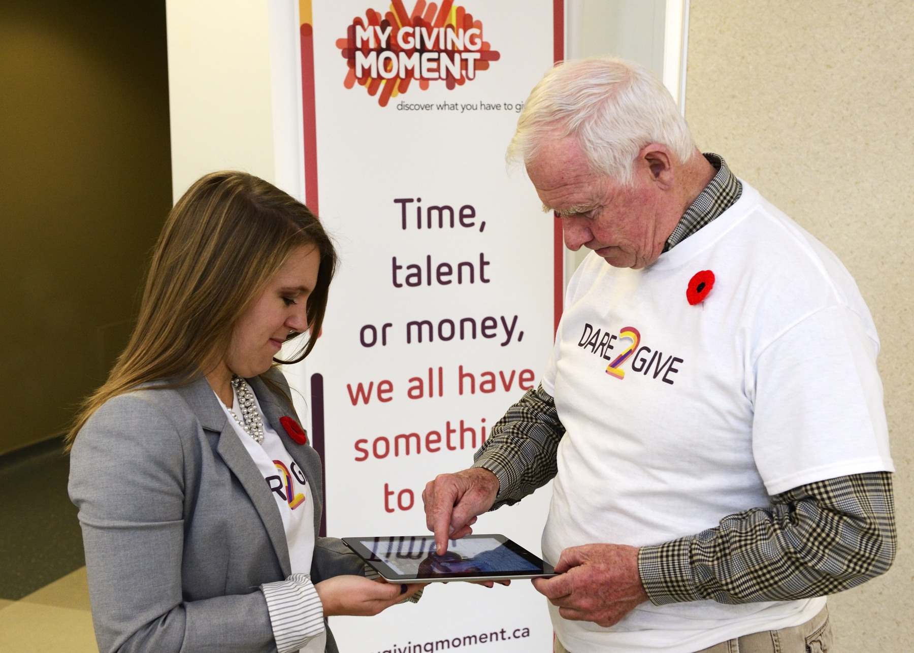 During the event, the Governor General challenged 23 people and submitted his number on www.mygivingmoment.ca.
