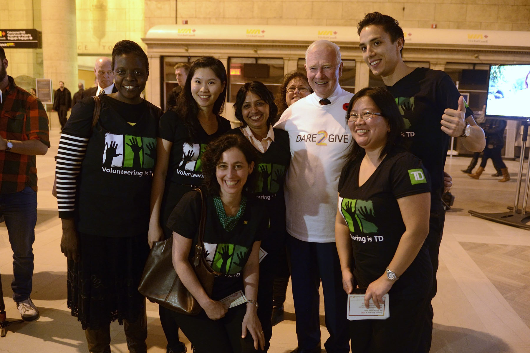 TD Bank Group volunteers joined the Governor General for this event, as one of the national partners of the My Giving Moment campaign,