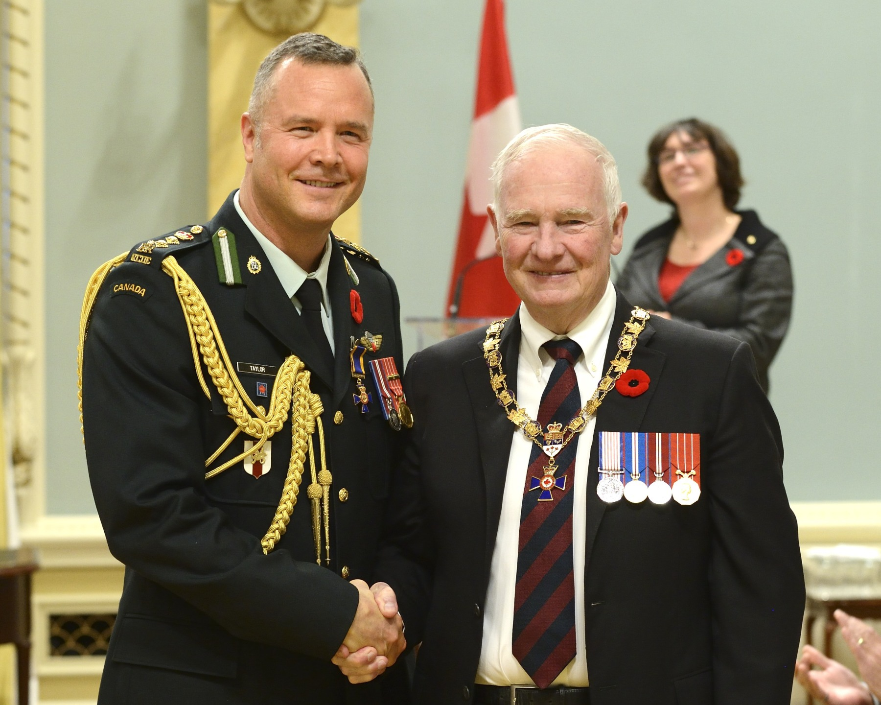 His Excellency presented the Order of Military Merit at the Officer level (O.M.M.) to Colonel James Taylor, O.M.M., C.D., Canadian Forces Health Services Group Headquarters, Ottawa, Ontario.