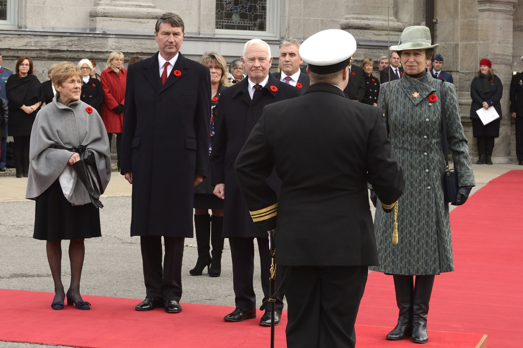 Her Royal Highness The Princess Royal received full military honours.