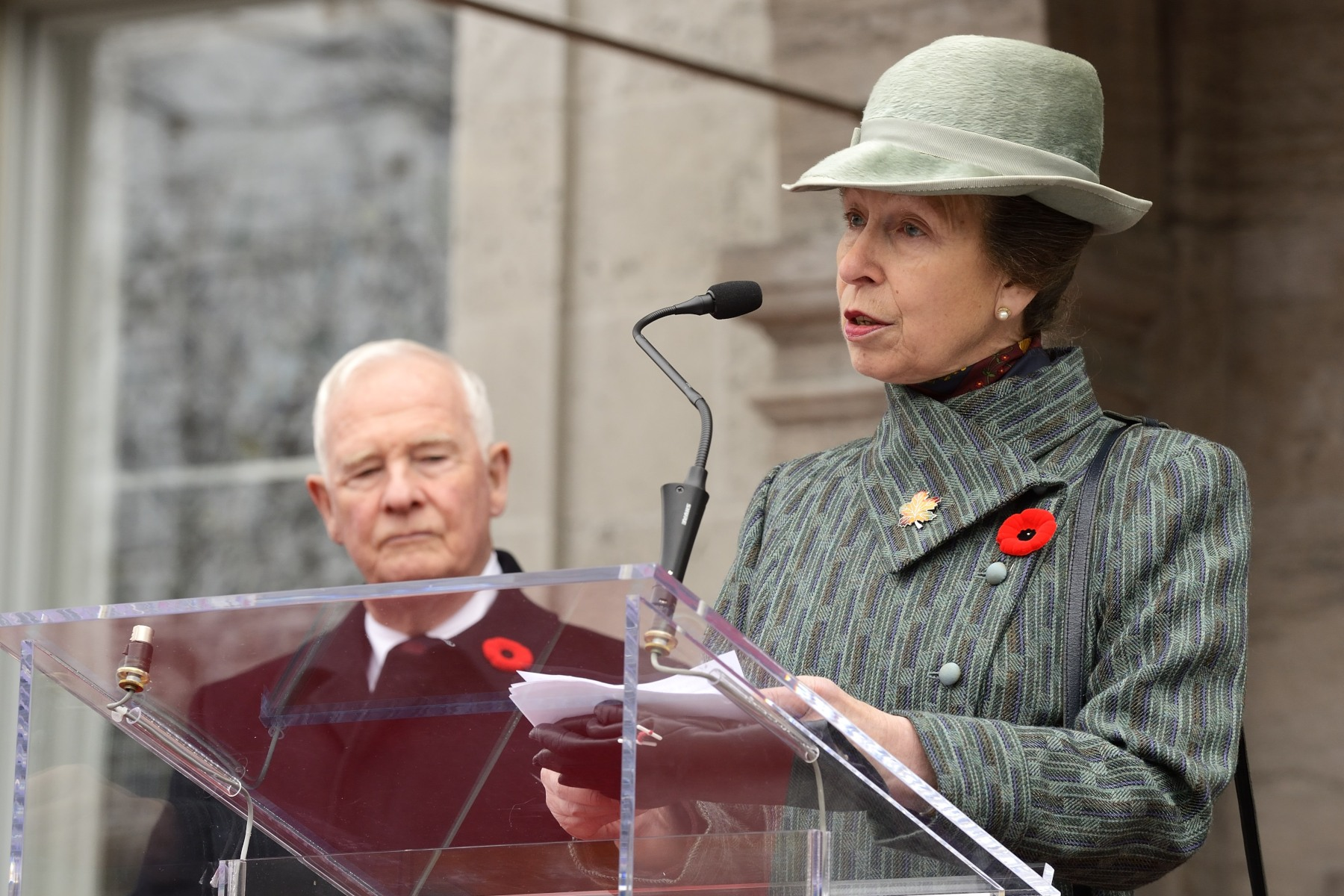 """I think we especially remember the two servicemen, Warrant Officer Patrice Vincent and Cpl. Nathan Cirillo, who were recently killed in the service of their country, and we will always honour the sacrifice they made on behalf of us all."""