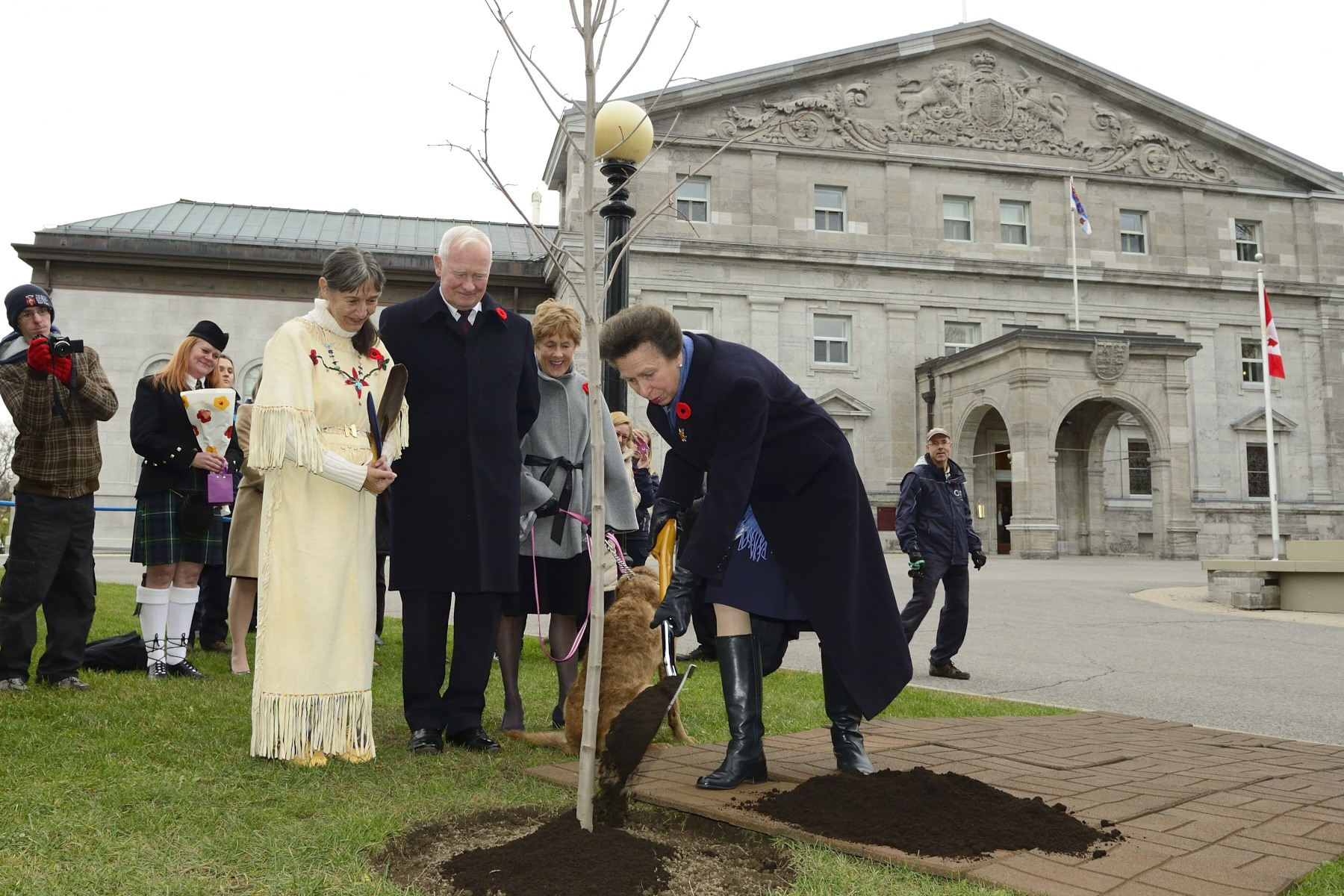 As per tradition, Her Royal Highness and Vice Admiral Laurence, joined by Their Excellencies, planted a tree (red maple) on Rideau Hall grounds.