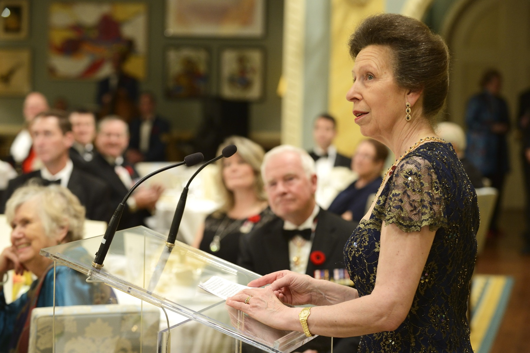 Her Royal Highness The Princess Royal also delivered remarks and offered a toast.