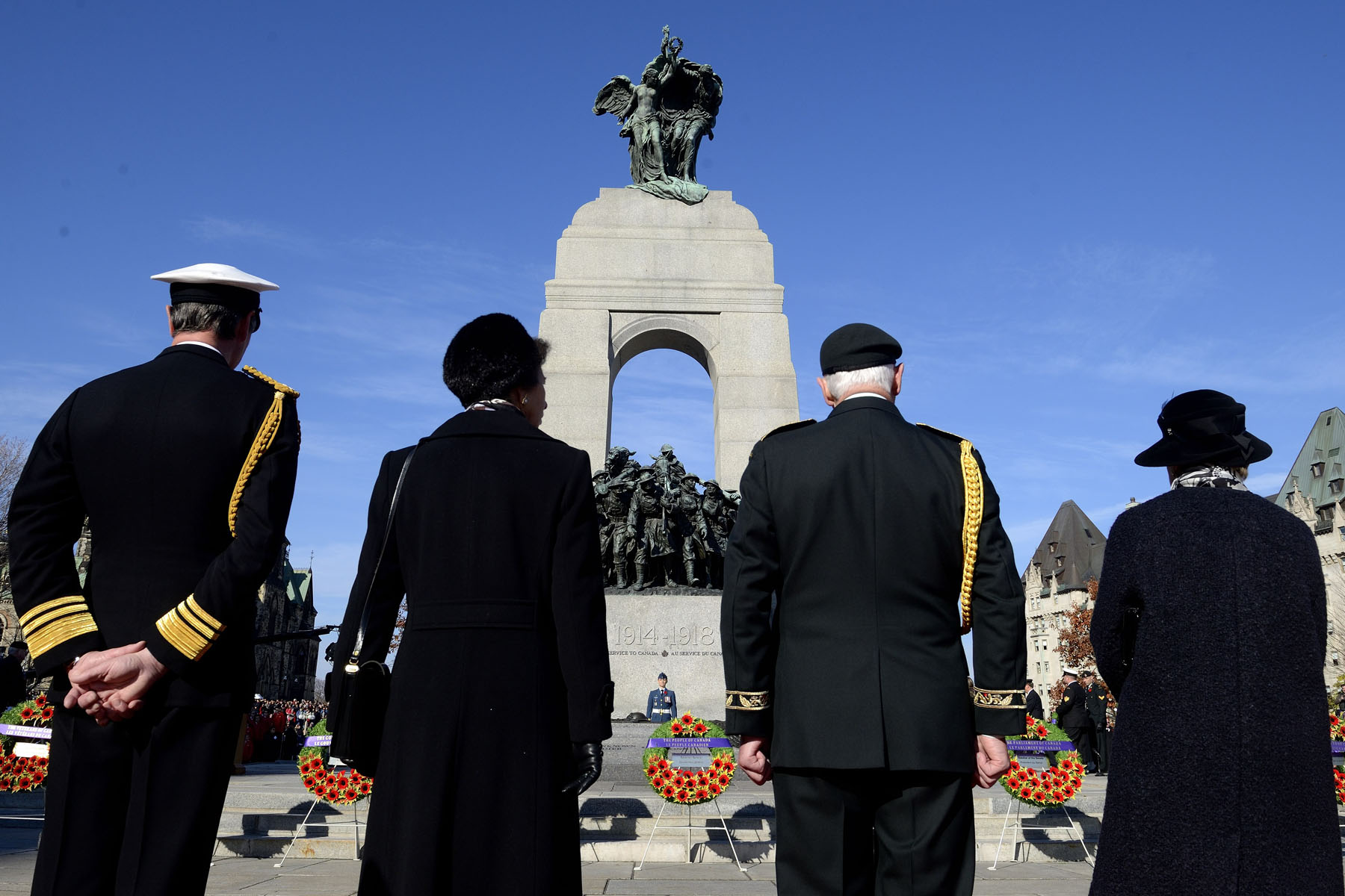 The ceremony had an added special significance this year, following the events that took place at the National War Memorial on October 22, 2014, and the death of Warrant Officer Patrice Vincent and Corporal Nathan Cirillo.