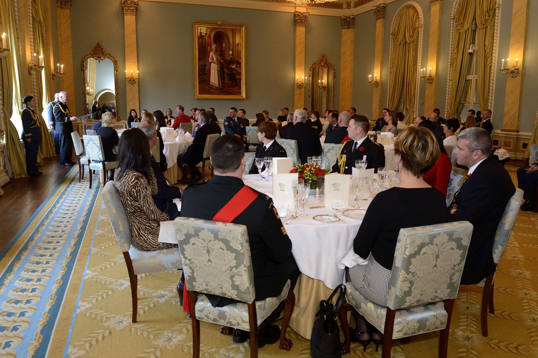 The Governor General delivered remarks during the luncheon.