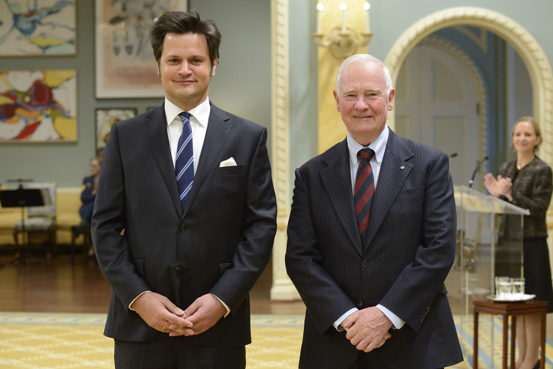 During a ceremony at Rideau Hall, the Governor General welcomed foreign heads of mission to this country. He first received the letters of credence of His Excellency Bálint Ódor, Ambassador of Hungary.