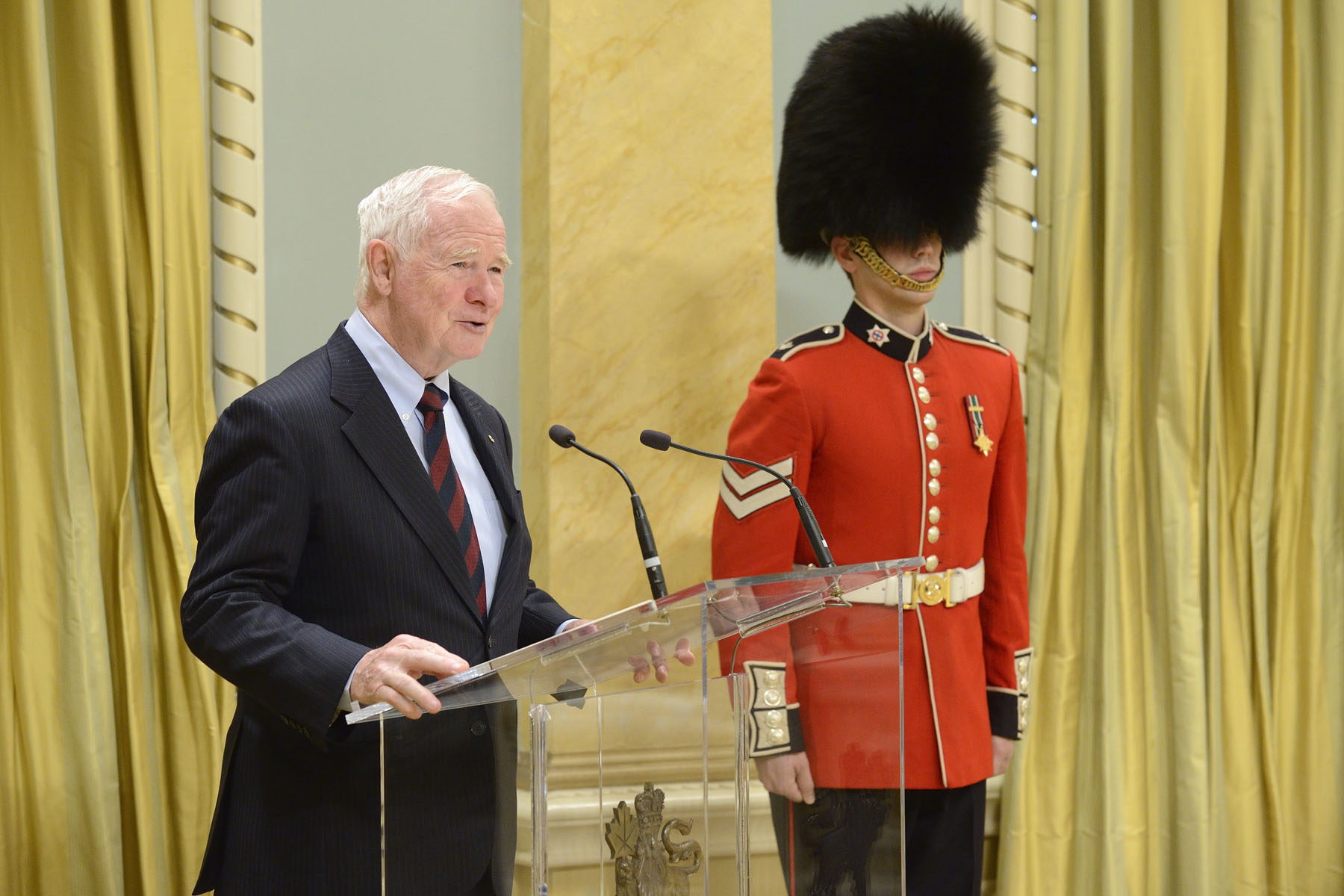 """Each of you has been chosen to represent the people of your respective nations, and to work with Canadians in search of common ground,"" said the Governor General. ""It is an important public service. You know that positive international relations are built on trust and respect, and that these sentiments are earned and renewed, or eroded, on a daily basis."""