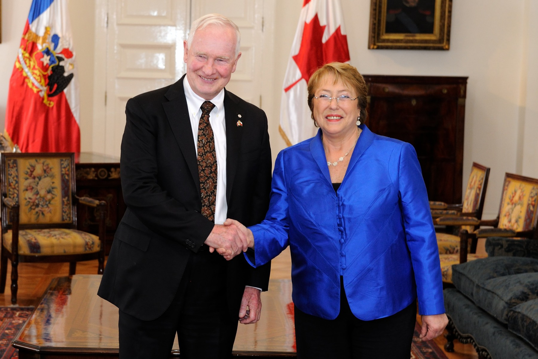 During his meeting with President Bachelet, the Governor General discussed Canada's ongoing strategic partnership with Chile.