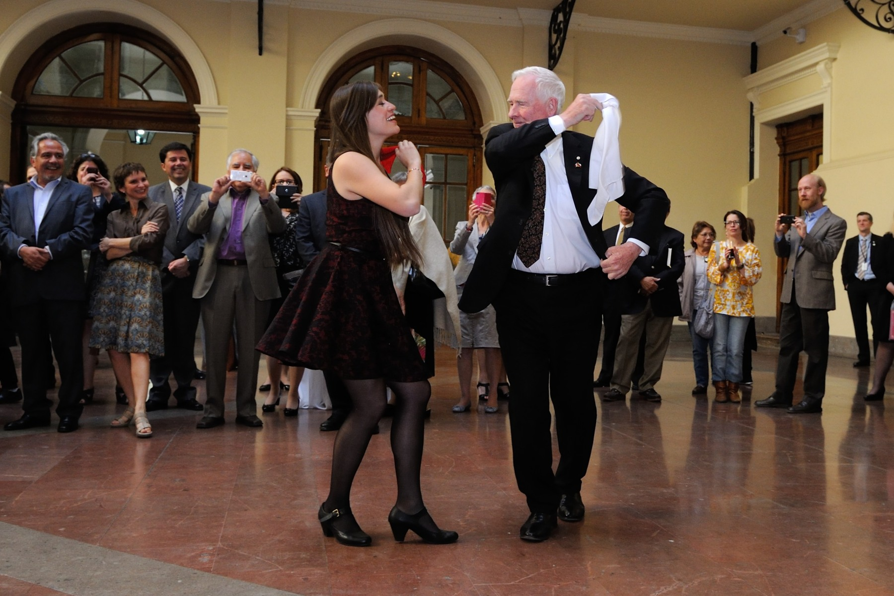 The Governor General also performed a few dance steps!