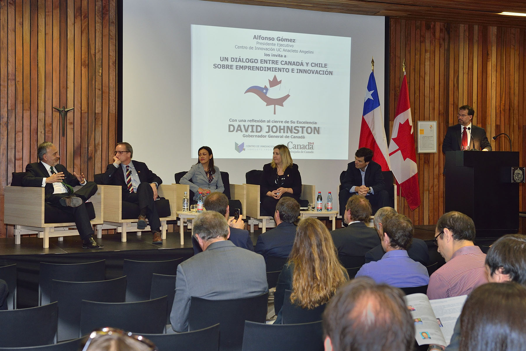 The discussion included testimonials from a Canadian-Chilean angel investor and the owner of a Chilean start-up who have established a successful business relationship.
