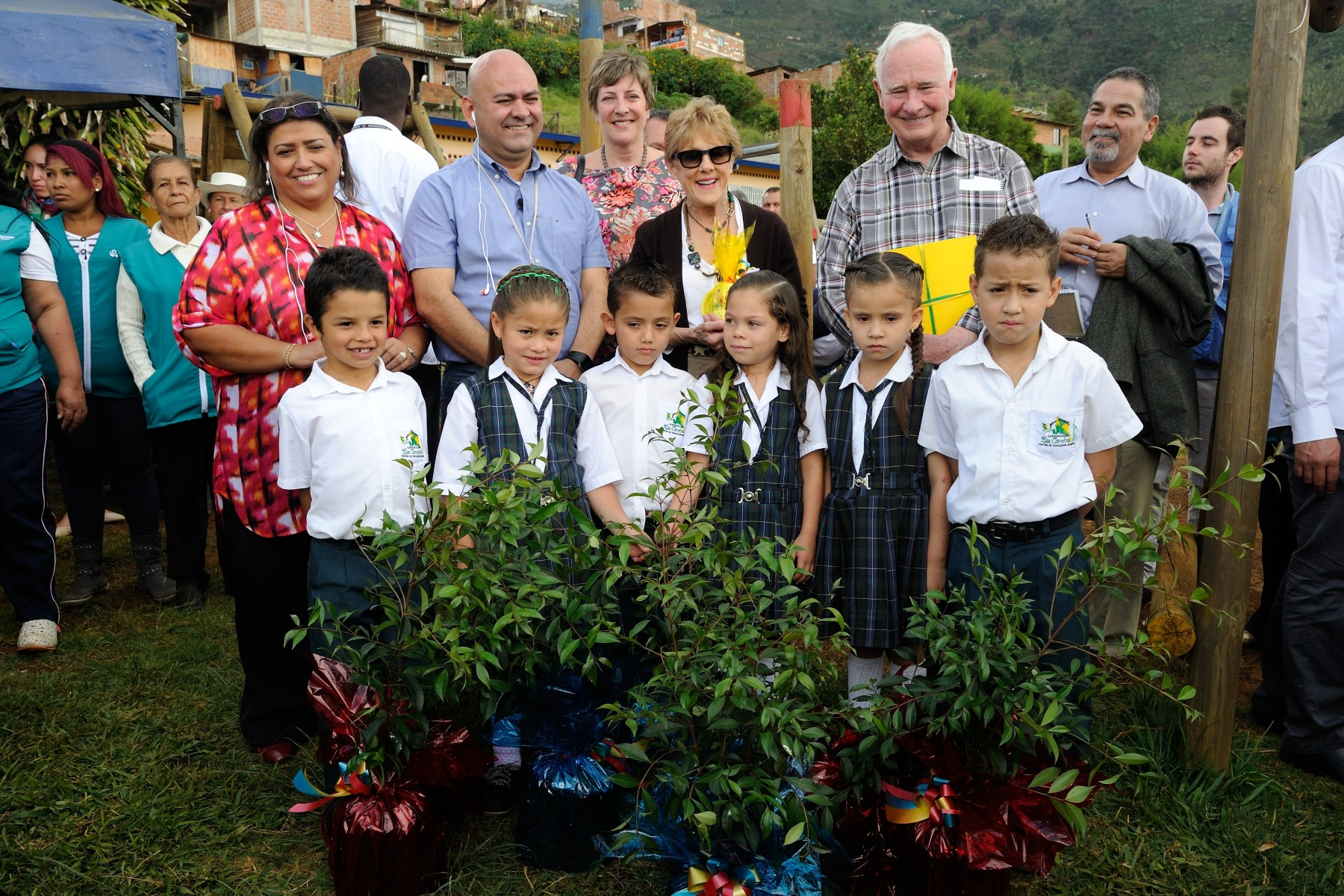 As a token of appreciation, Their Excellencies donated fruit trees to the community.
