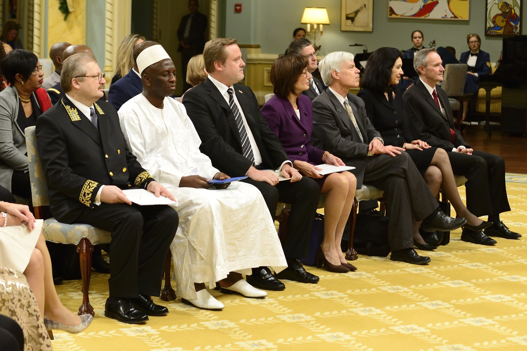 The Governor General received the letters of credence of four new heads of mission during a ceremony held at Rideau Hall.
