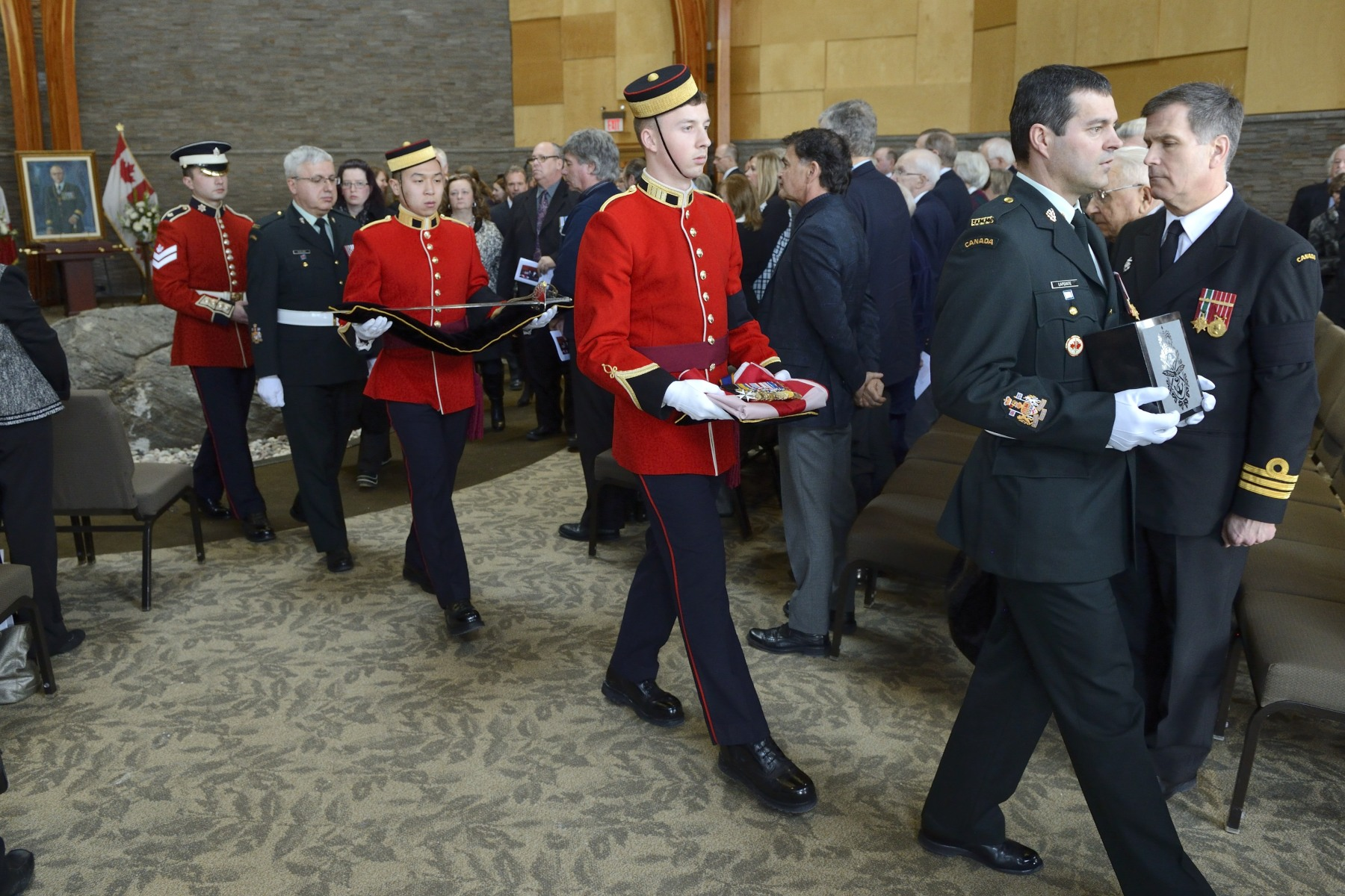 The ceremony took place at the Beechwood Cemetery, the National Cemetery of Canada, in Ottawa.