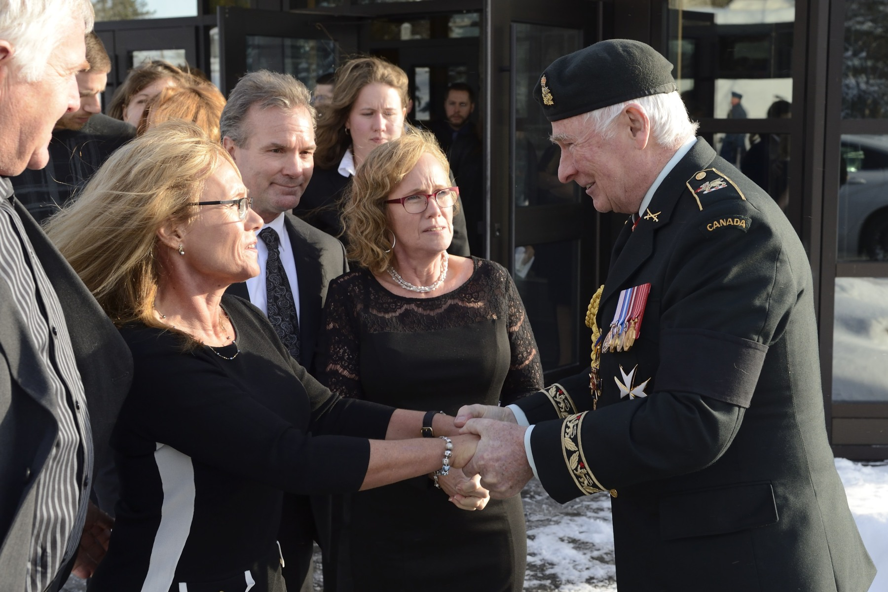 On behalf of all Canadians, the Governor General offered his condolences to the family of General Withers.
