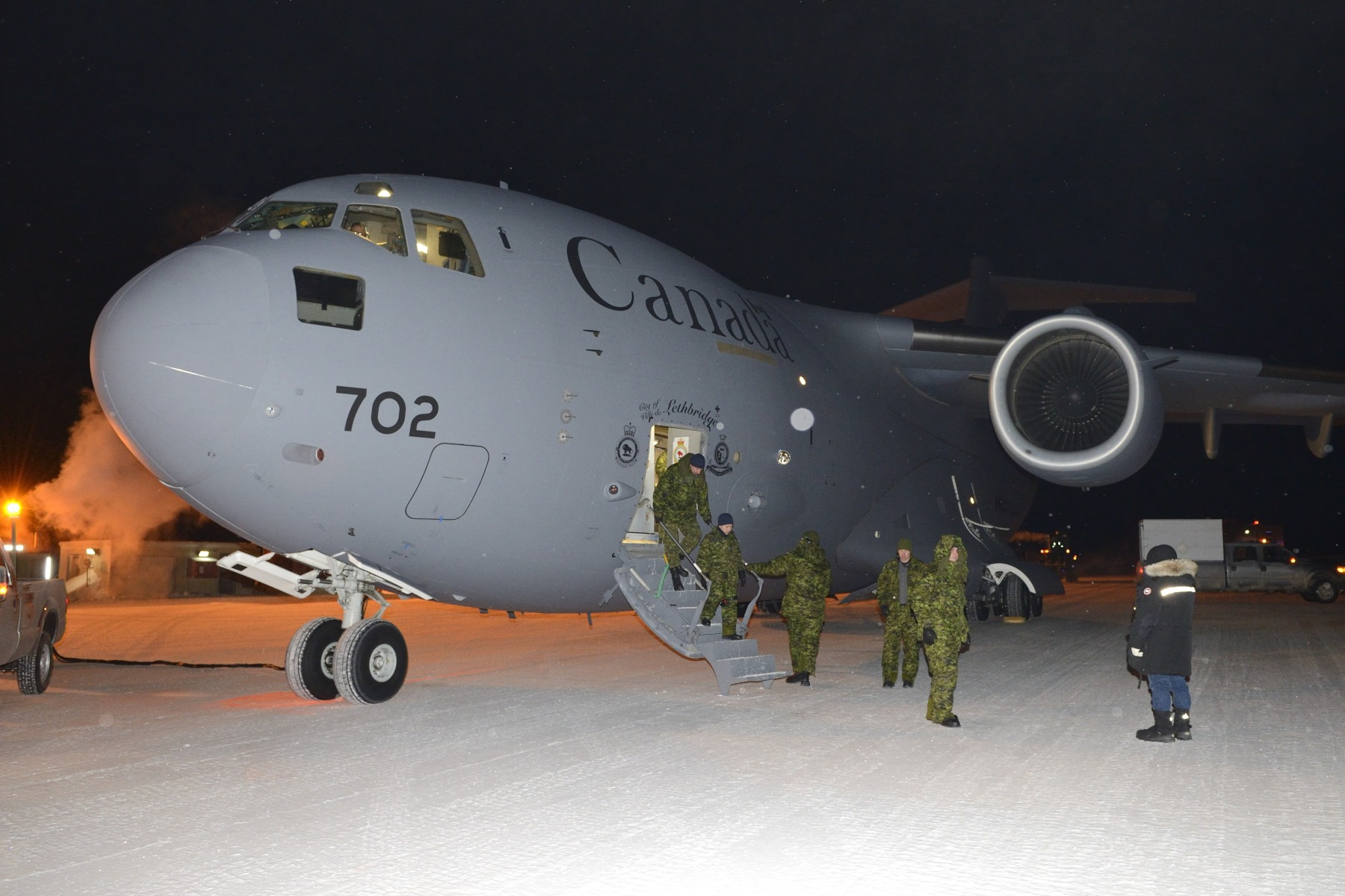 The Governor General and Commander-in-Chief of Canada visited Canadian Armed Forces (CAF) members and civilians at Canadian Forces Station (CFS) Alert, Canada's most northerly military installation, on January 19 and 20, 2015.