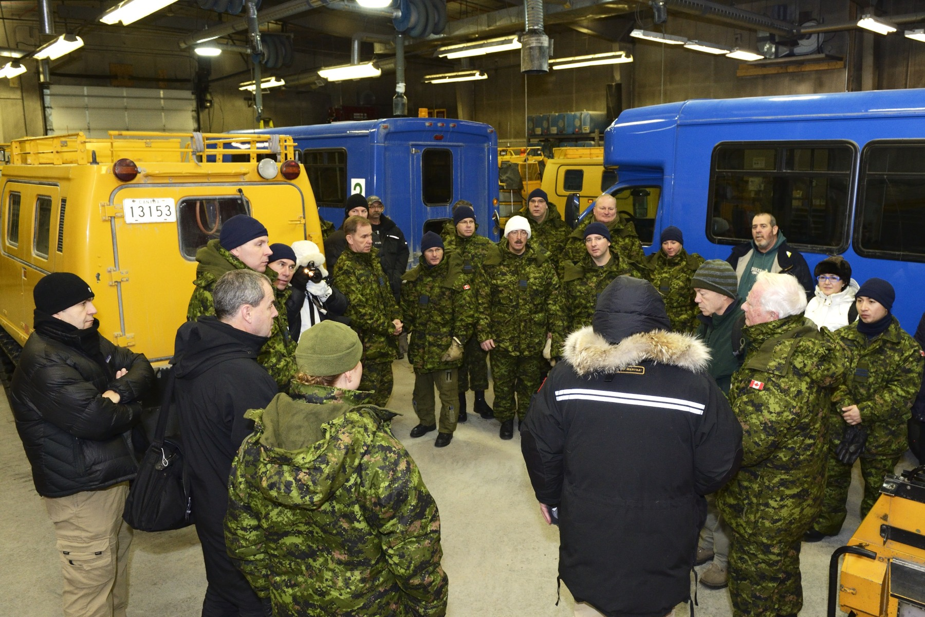 His Excellency conducted a walking tour of the station to learn more about its use of scientific innovation, and its link with Canada and the North.