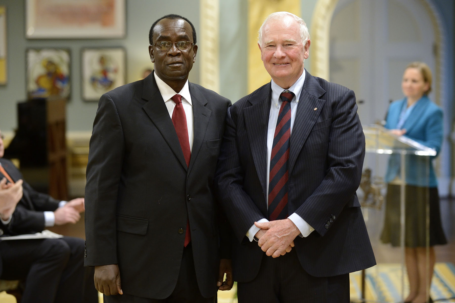 The Governor General also received the letters of credence of His Excellency Jack Mugendi Zoka, High Commissioner of the United Republic of Tanzania.