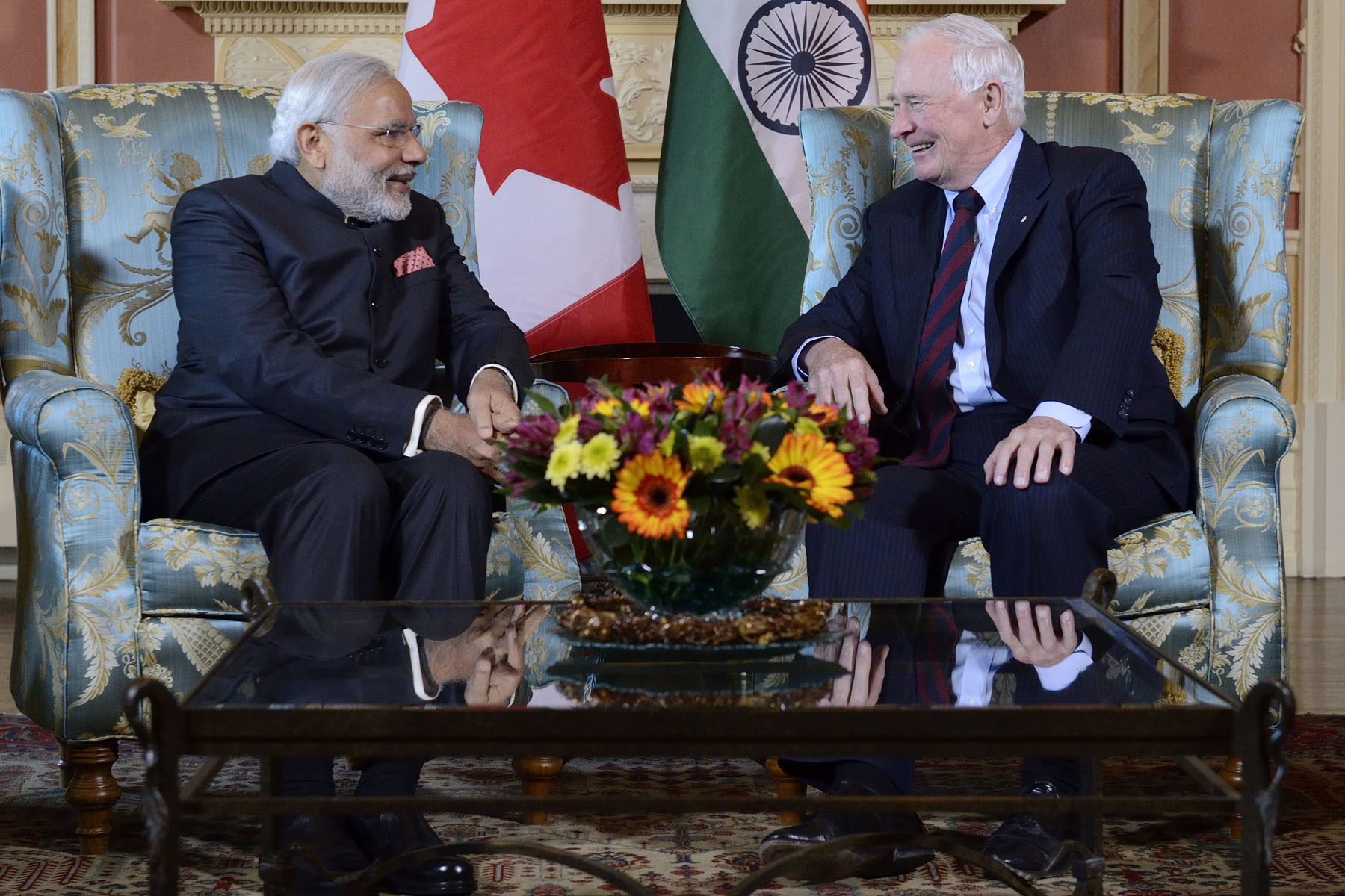 The Governor General conducted a State visit in India in 2014 that centred on the themes of innovation, entrepreneurship and education, with a special focus on the contributions of women and girls.