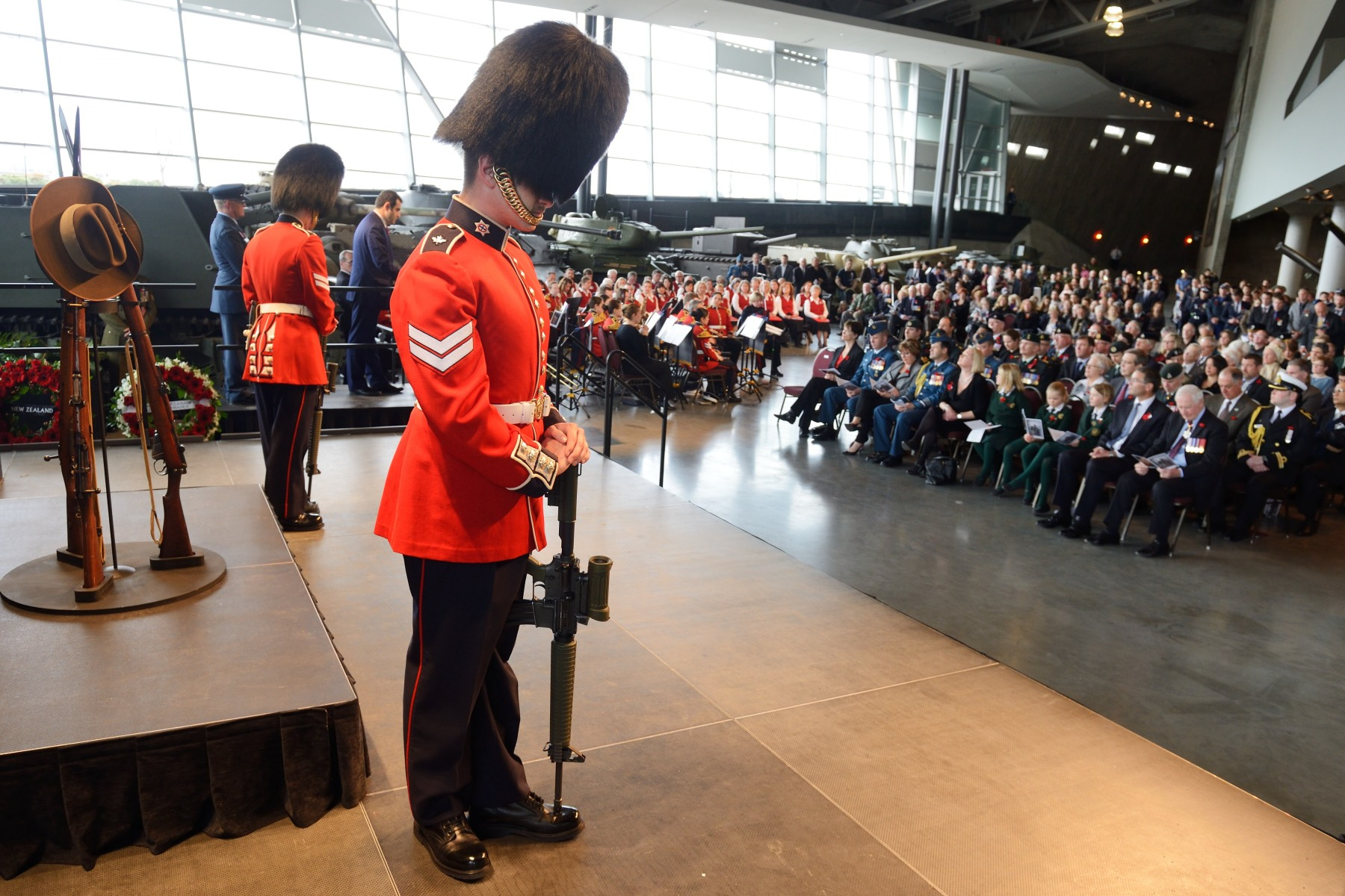 The ceremony was held at the Canadian War Museum, in Ottawa.