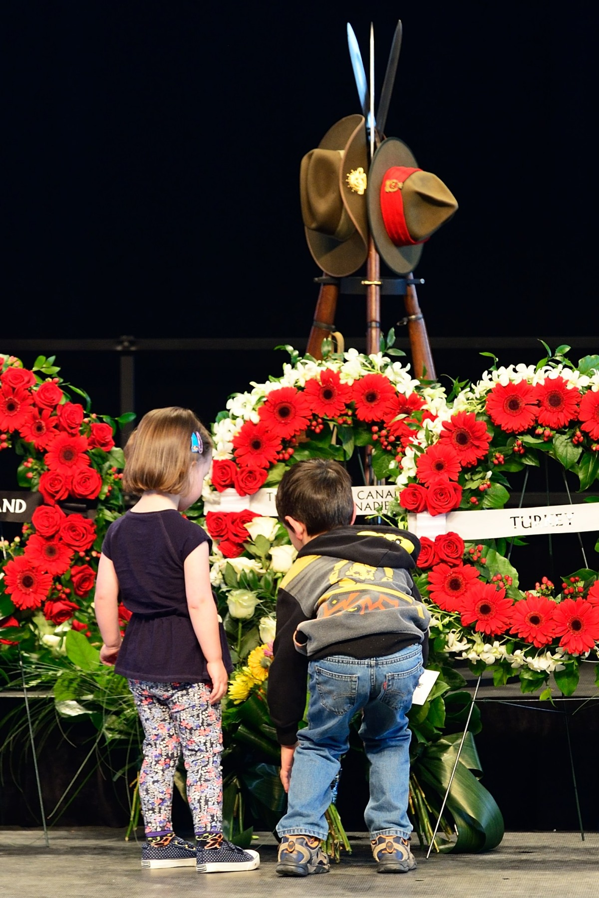Children also laid a wreath in tribute to the Australian and New Zealand soldiers who paid the ultimate sacrifice.