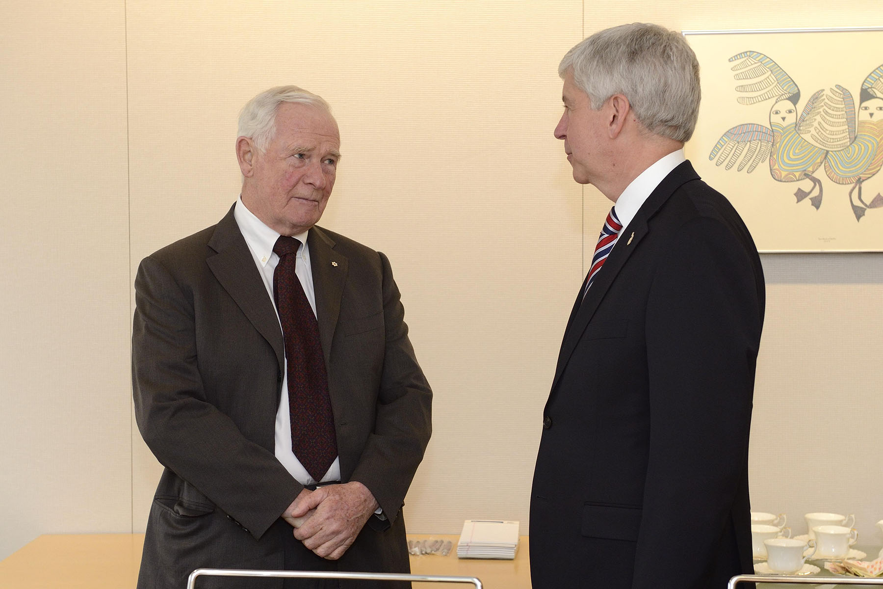 Before concluding his visit to the Midwest of the United States of America, His Excellency met with the Honourable Rick Snyder, Governor of Michigan.