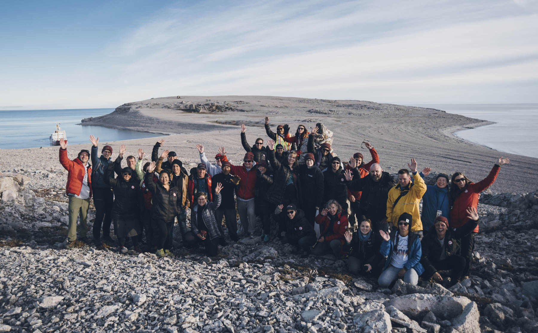Their Excellencies and the Canada C3 participants in Bernard Harbour, Nunavut.