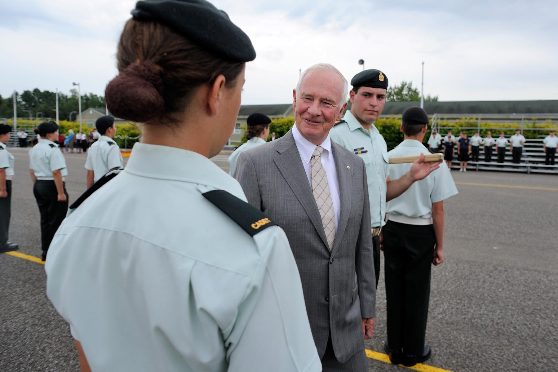 Visiting Cadets in Valcartier