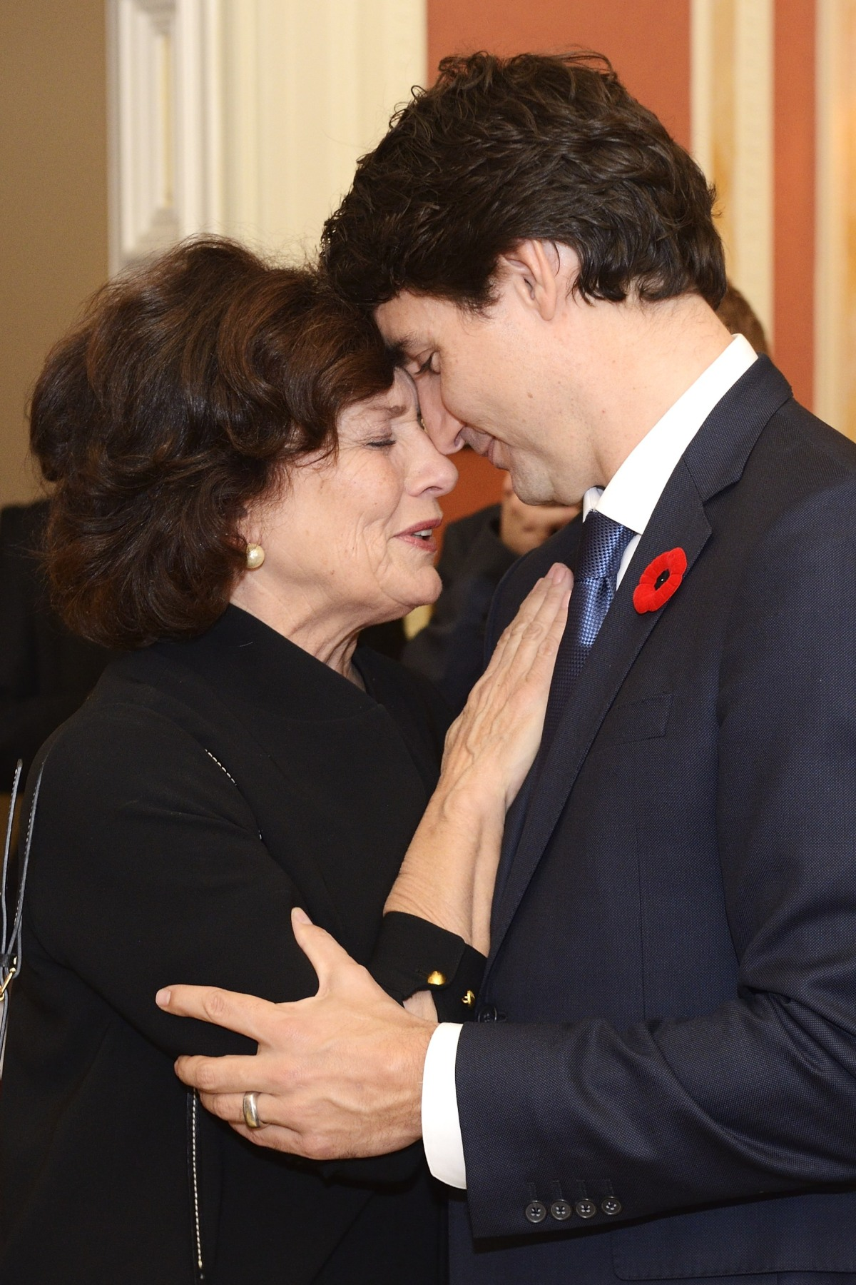 Just before entering the Ballroom, Mr. Trudeau had a special moment with his mother Margaret Trudeau.
