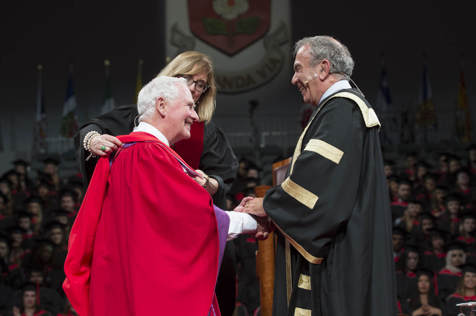 Mr. Greg Sorbara, Chancellor of York University, presented His Excellency with an honorary Doctor of Laws degree.