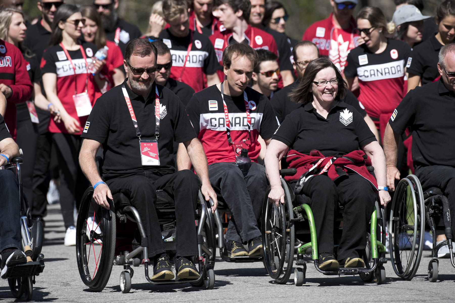 More than 200 Olympians and Paralympians and coaches walked up the main drive to the residence.