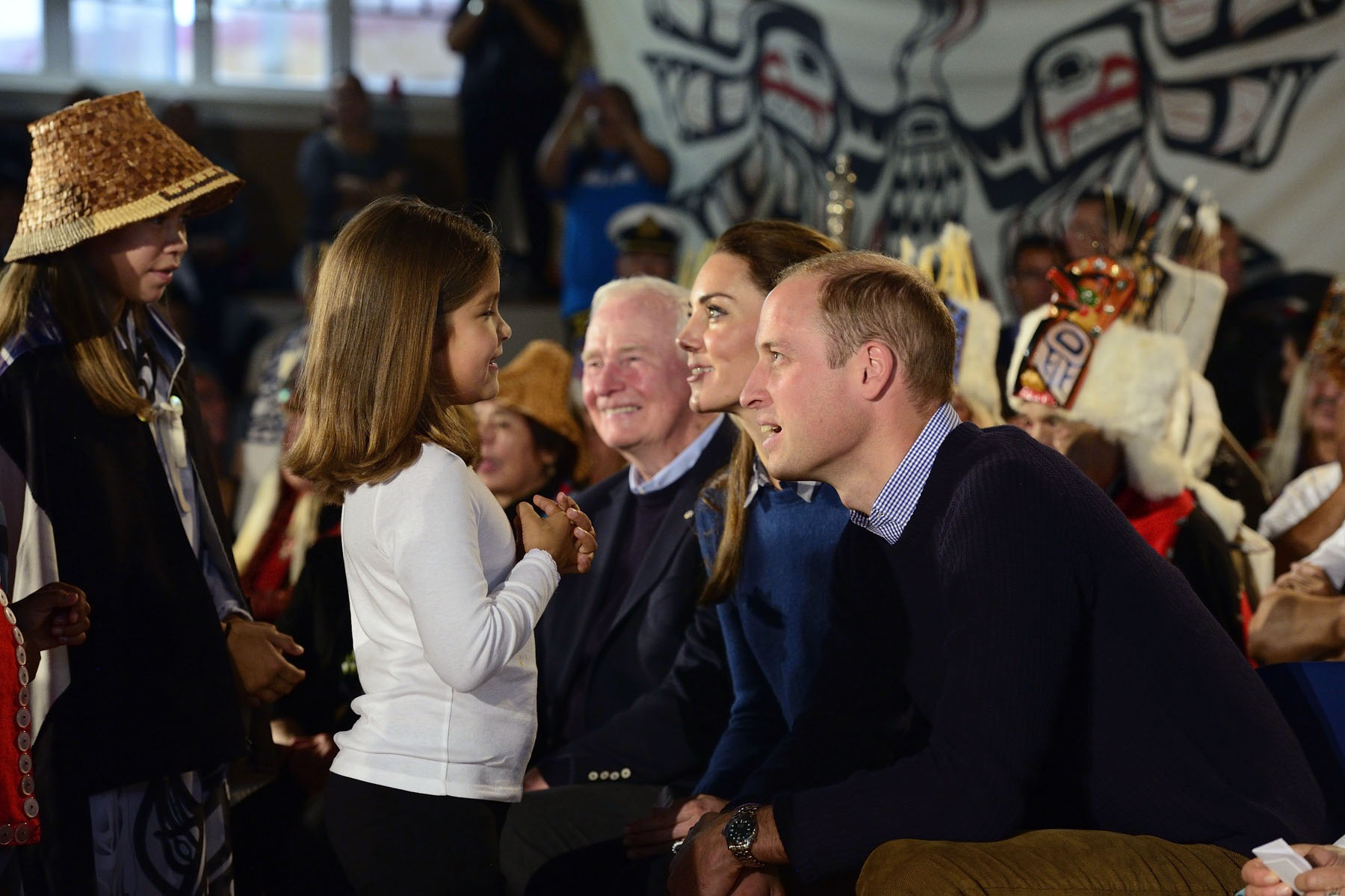 Their Royal Highnesses met youth from the Heiltsuk community.