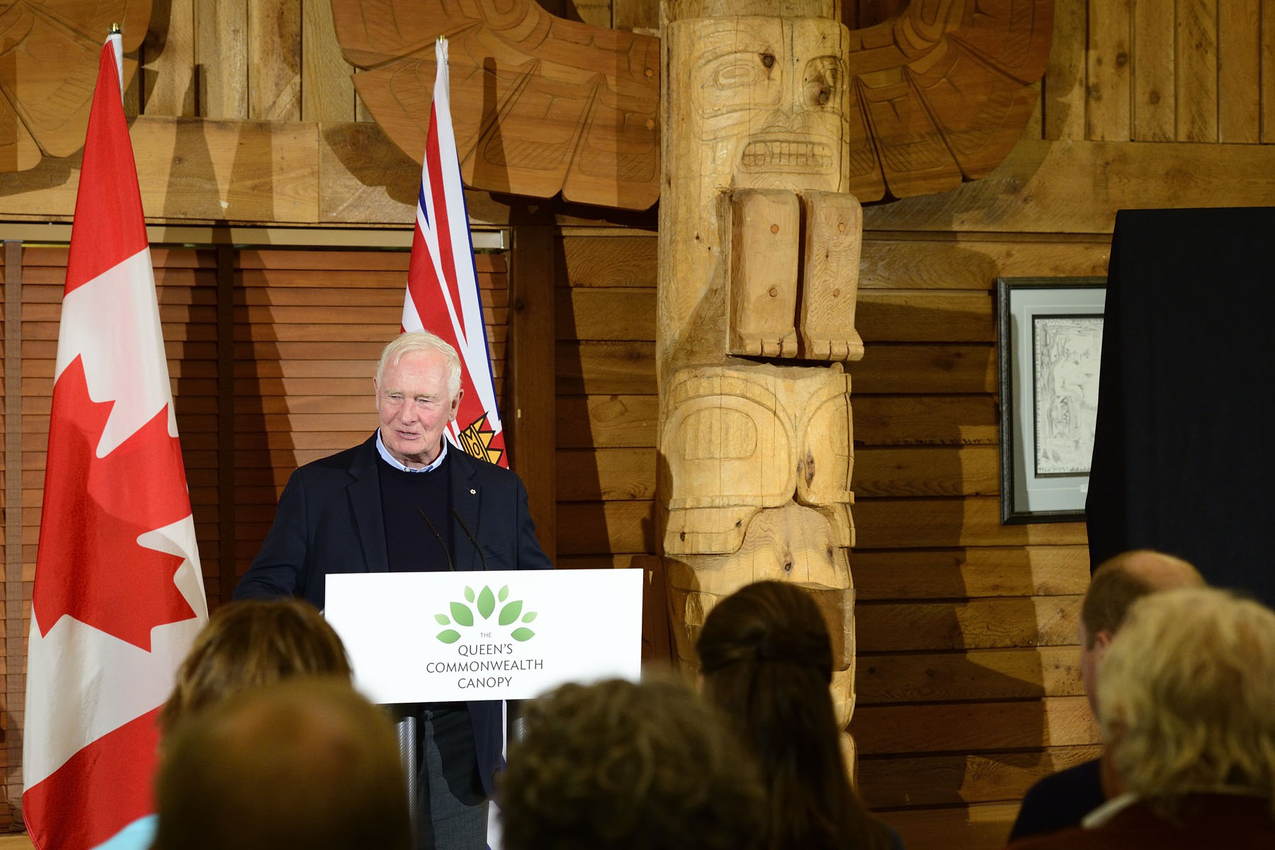"""I begin by acknowledging we are gathered today on the traditional territory of the Heiltsuk First Nation. It's wonderful to see you all here for this dedication of the Great Bear Rainforest. And, Your Royal Highnesses, thank you for being here to dedicate this forest as part of The Queen's Commonwealth Canopy."""