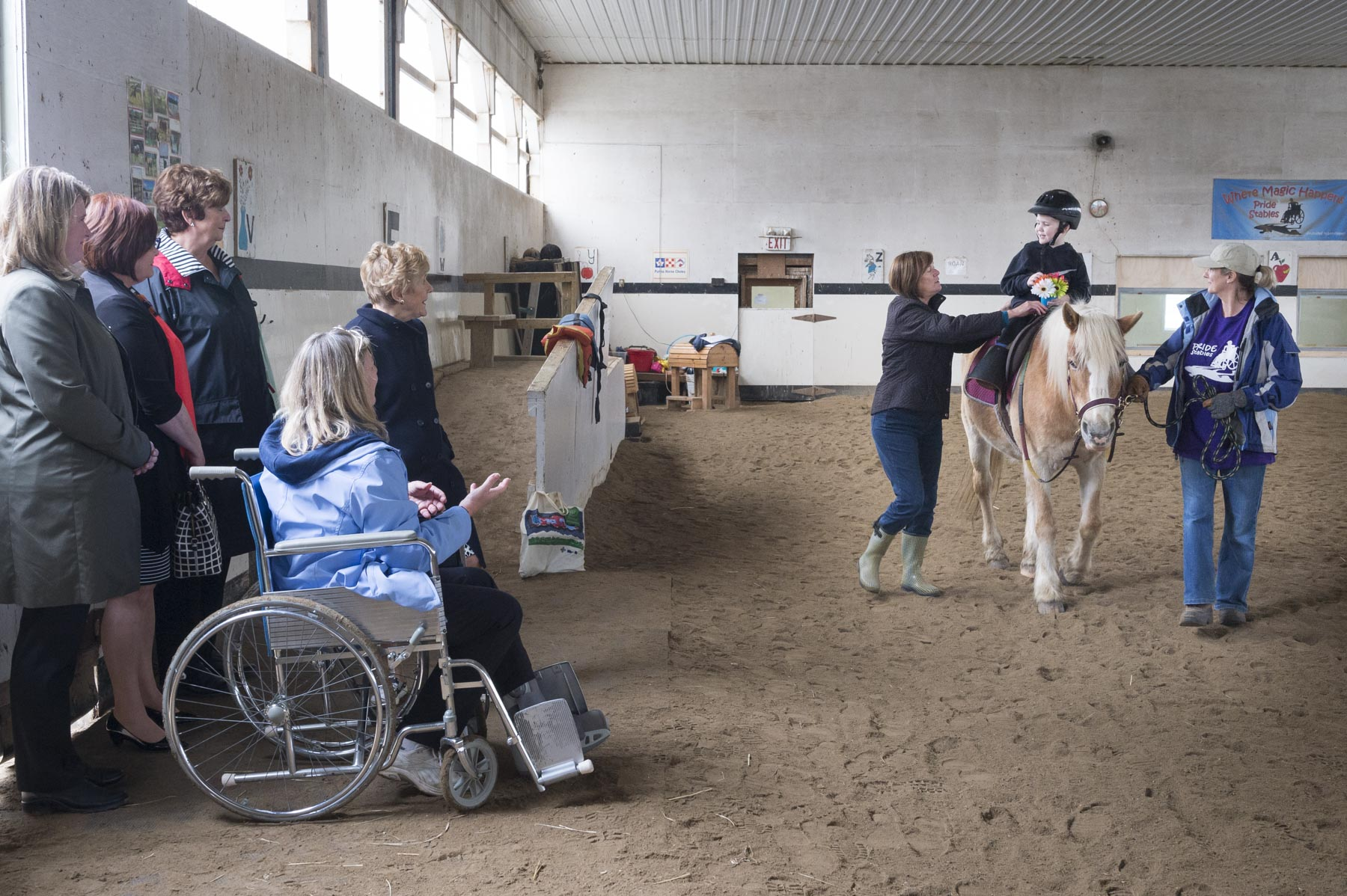 Mrs. Johnston attended the kindergarten riding class where she met with participants, parents, teachers and volunteers.