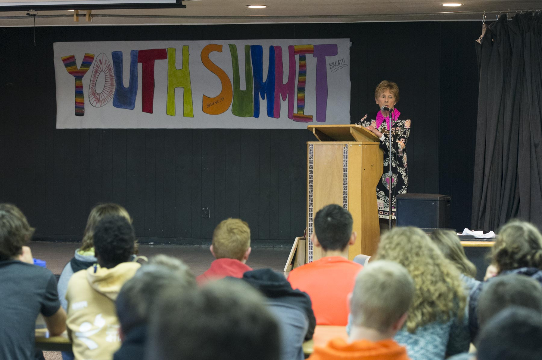 In her remarks Her Excellency spoke about the importance of mental health services for youth in the community.