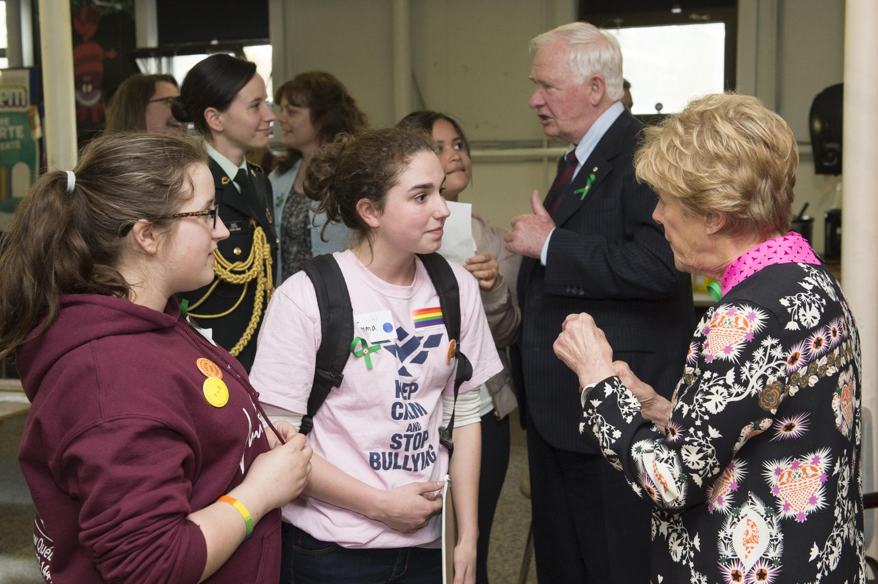 Their Excellencies took the time to meet with students and teachers from the school.
