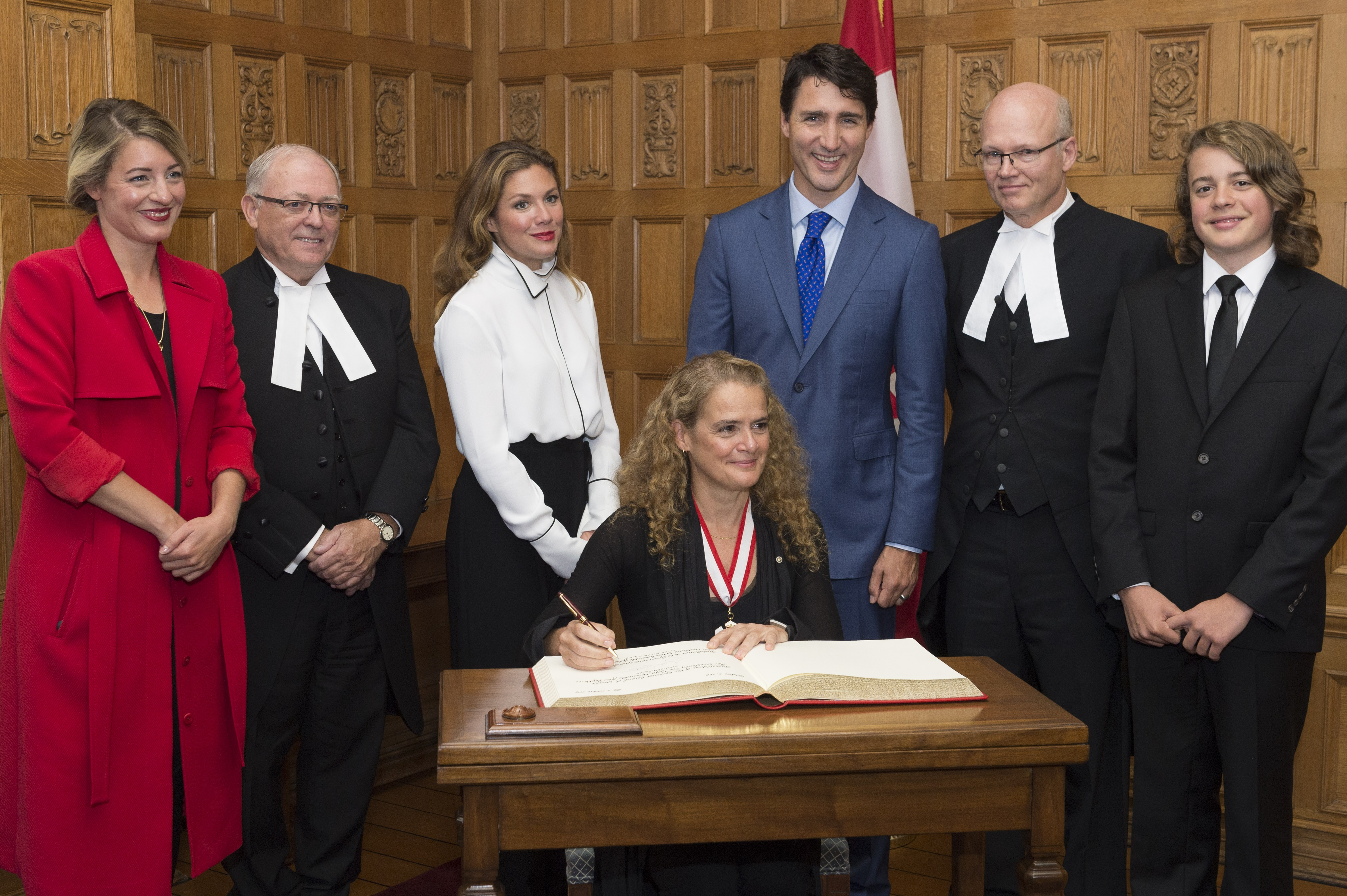 The Governor General signed the proclamation marking her accession.