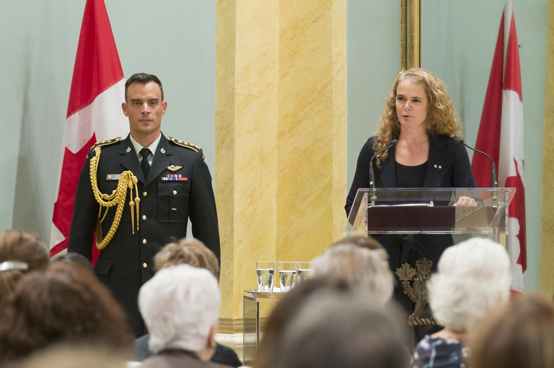 The Governor General delivered remarks to congratulate the recipients.