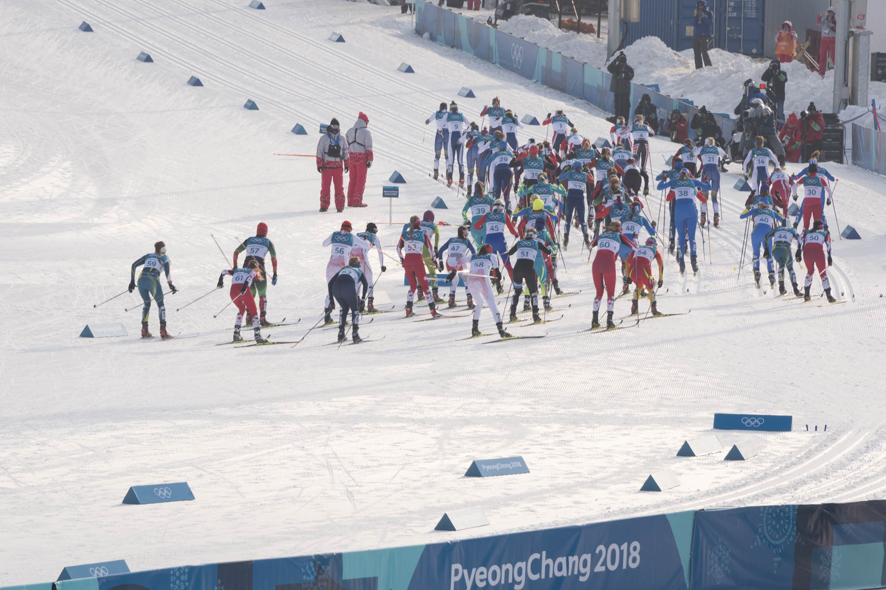 The sporting event was held at Alpensia Cross-Country Centre.