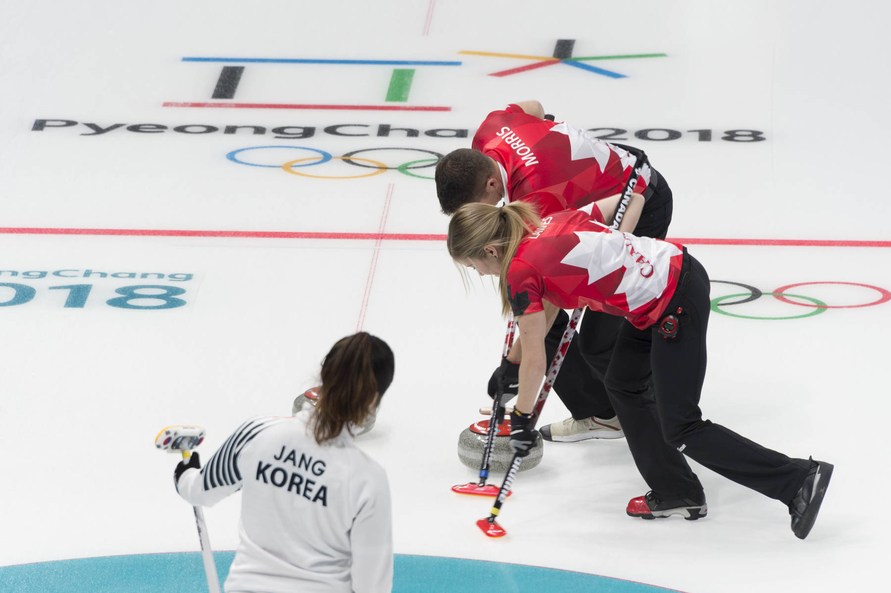 Her Excellency attended the women's curling as Team Canada competed against Korea.