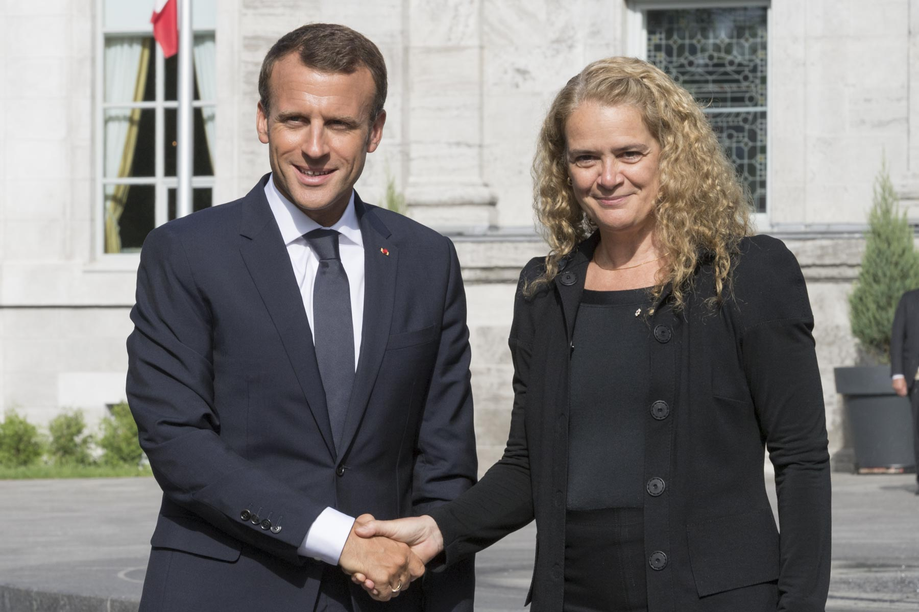 The Governor General welcomed His Excellency Emmanuel Macron, President of the French Republic, at Rideau Hall on June 6, 2018.