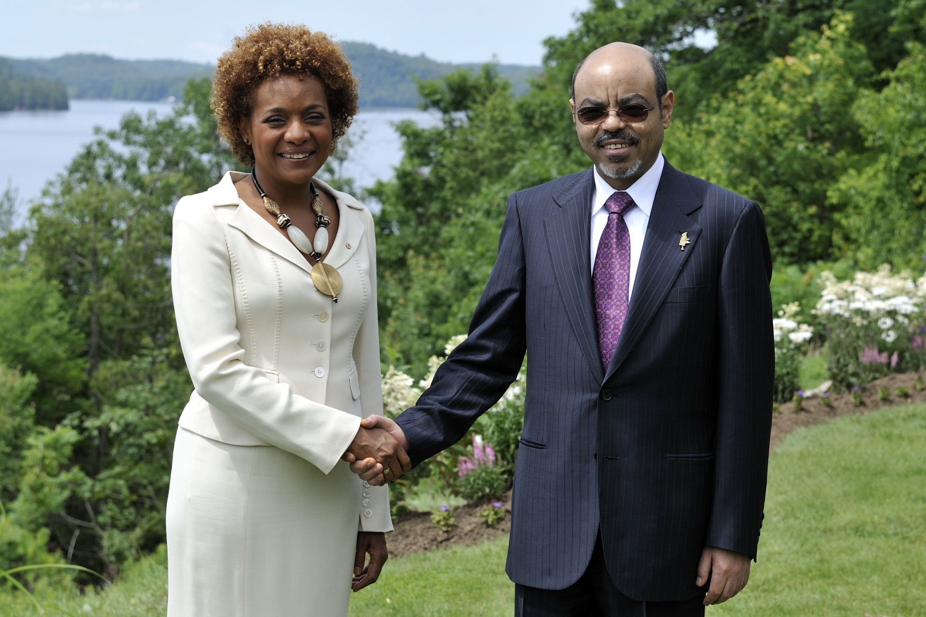 His Excellency Ato Meles Zanawi, Prime Minister of the Federal Democratic Republic of Ethiopia and Chair of the New Partnership for Africa's Development (NEPAD).