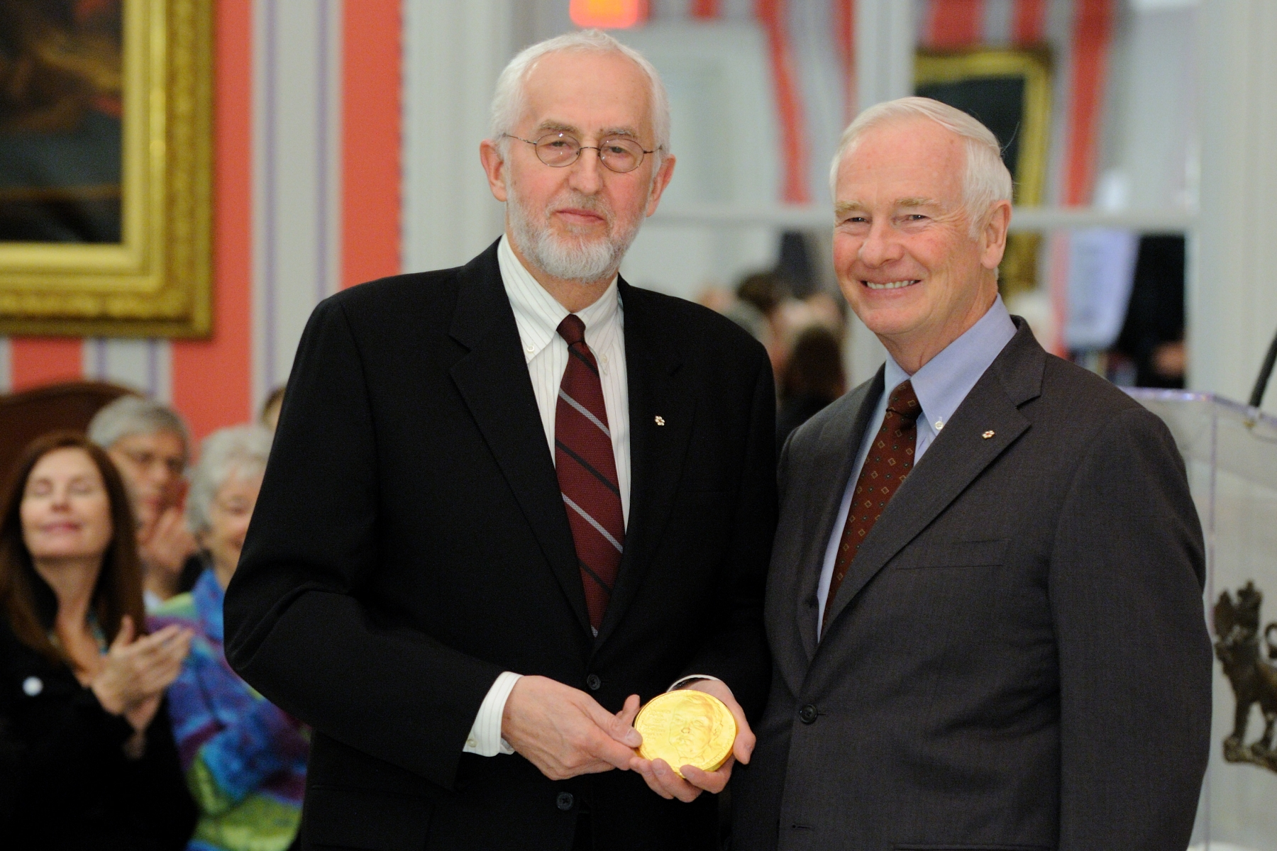 A jury of eminent Canadians selects the recipient of this honour. The medal is awarded by the United Nations Association in Canada (UNA-Canada), a registered charity founded in 1946, with a mandate to educate and engage Canadians in support of the United Nations and its critical issues, which have a global impact.