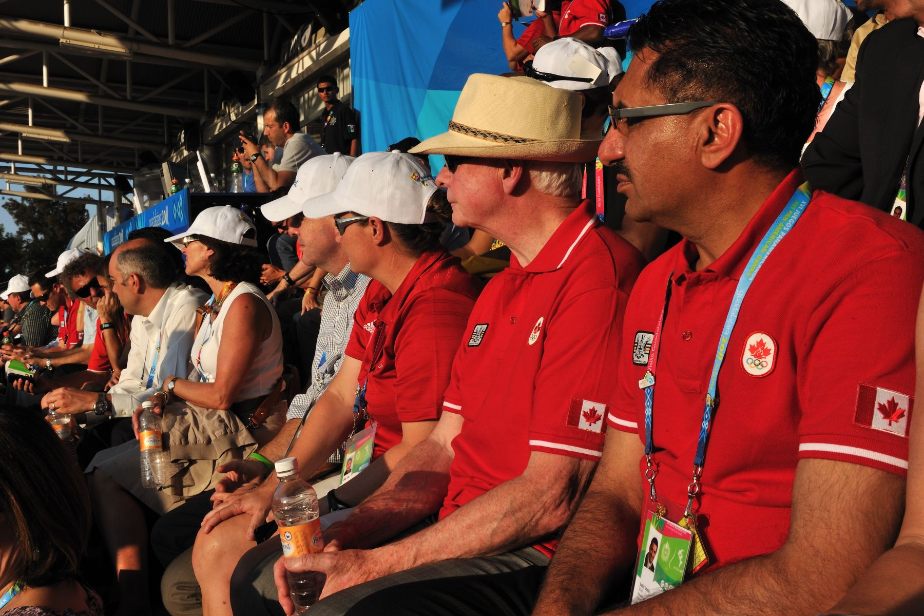 The Governor General was joined by the Honourable Bal Gosal, Minister of State (Sport), to watch the game.