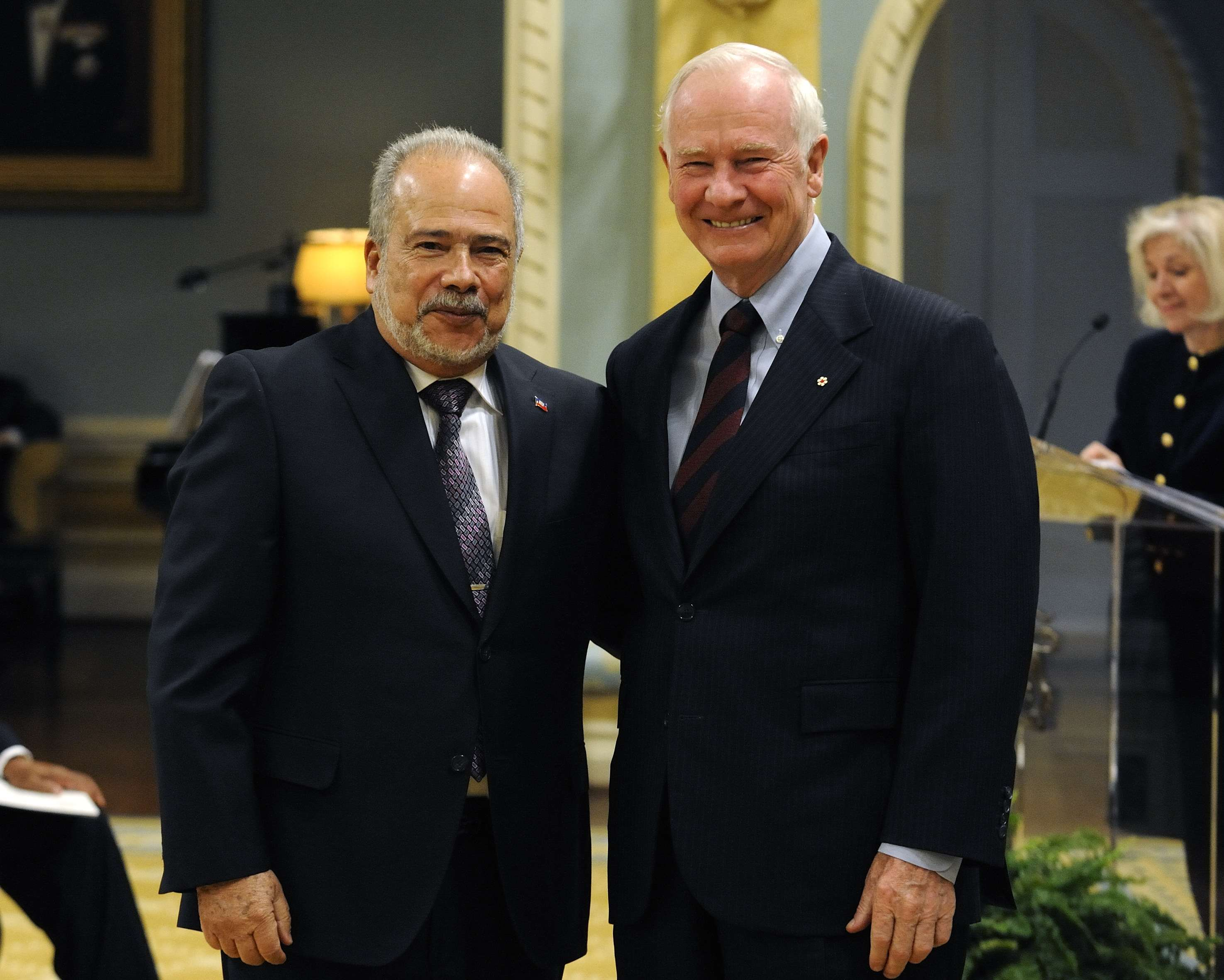 The Governor General received the credentials of His Excellency Frantz Liautaud, Ambassador of the Republic of Haiti.