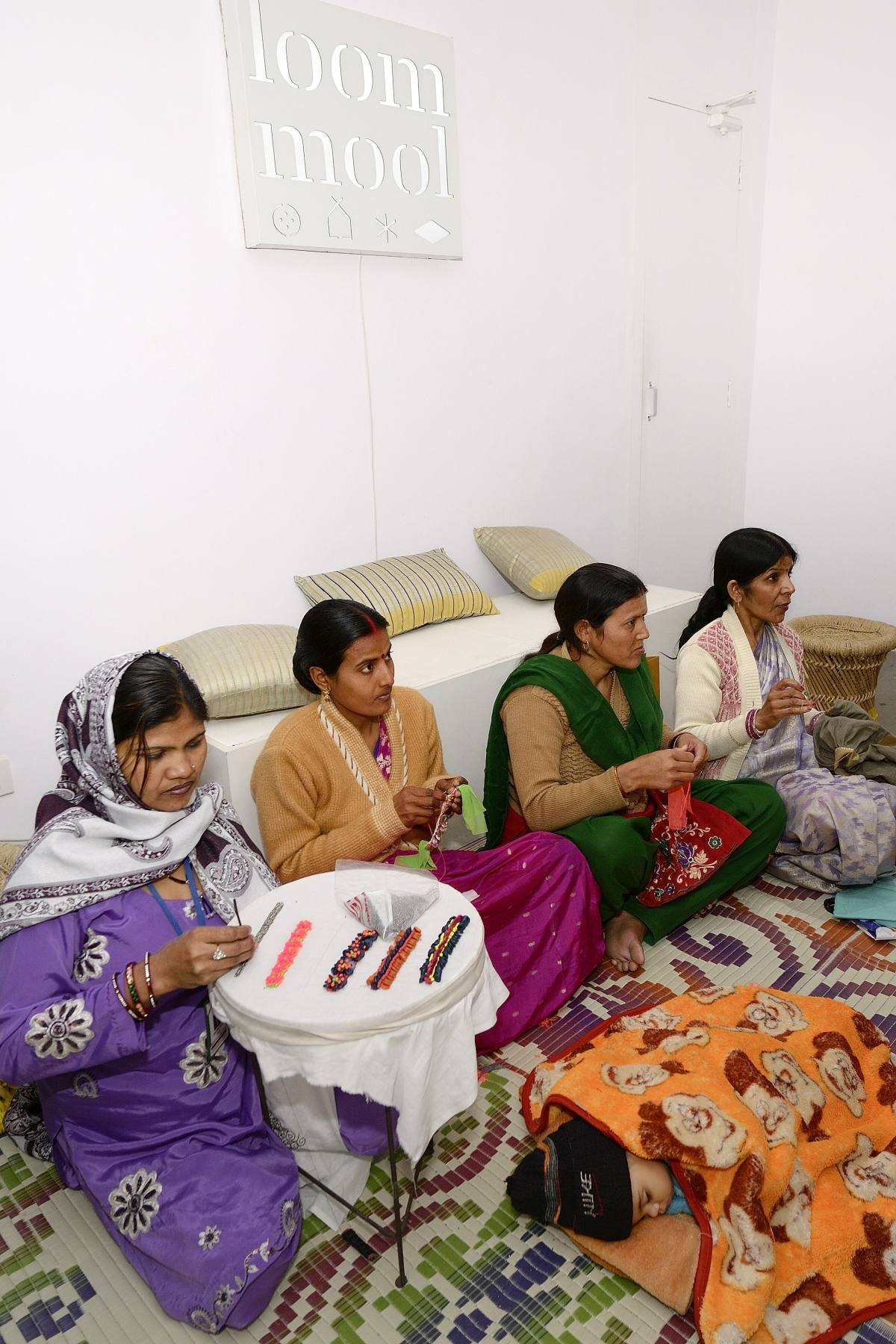 SEWA works with the silk artisans directly, eliminating the 'middle men', and helps them create designs that are contemporary while using traditional weaves.