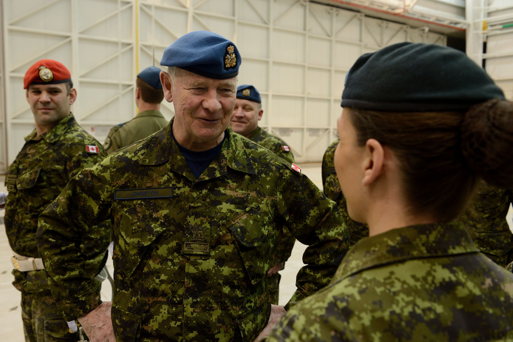 His Excellency then toured the establishment, viewed the equipment in the crew systems laboratory, and met with personnel.